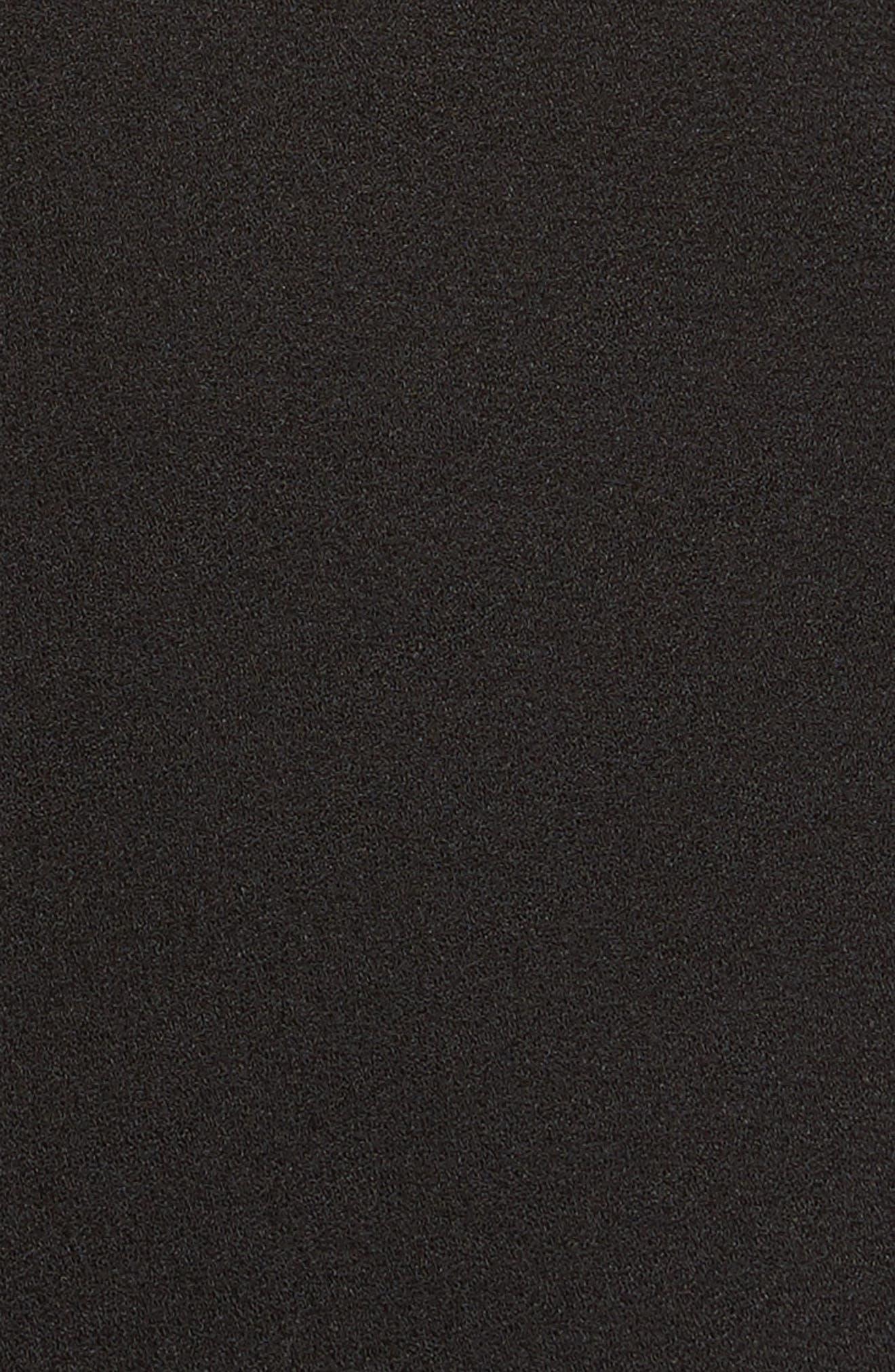 Crepe Tie Neck Dress,                             Alternate thumbnail 5, color,                             001
