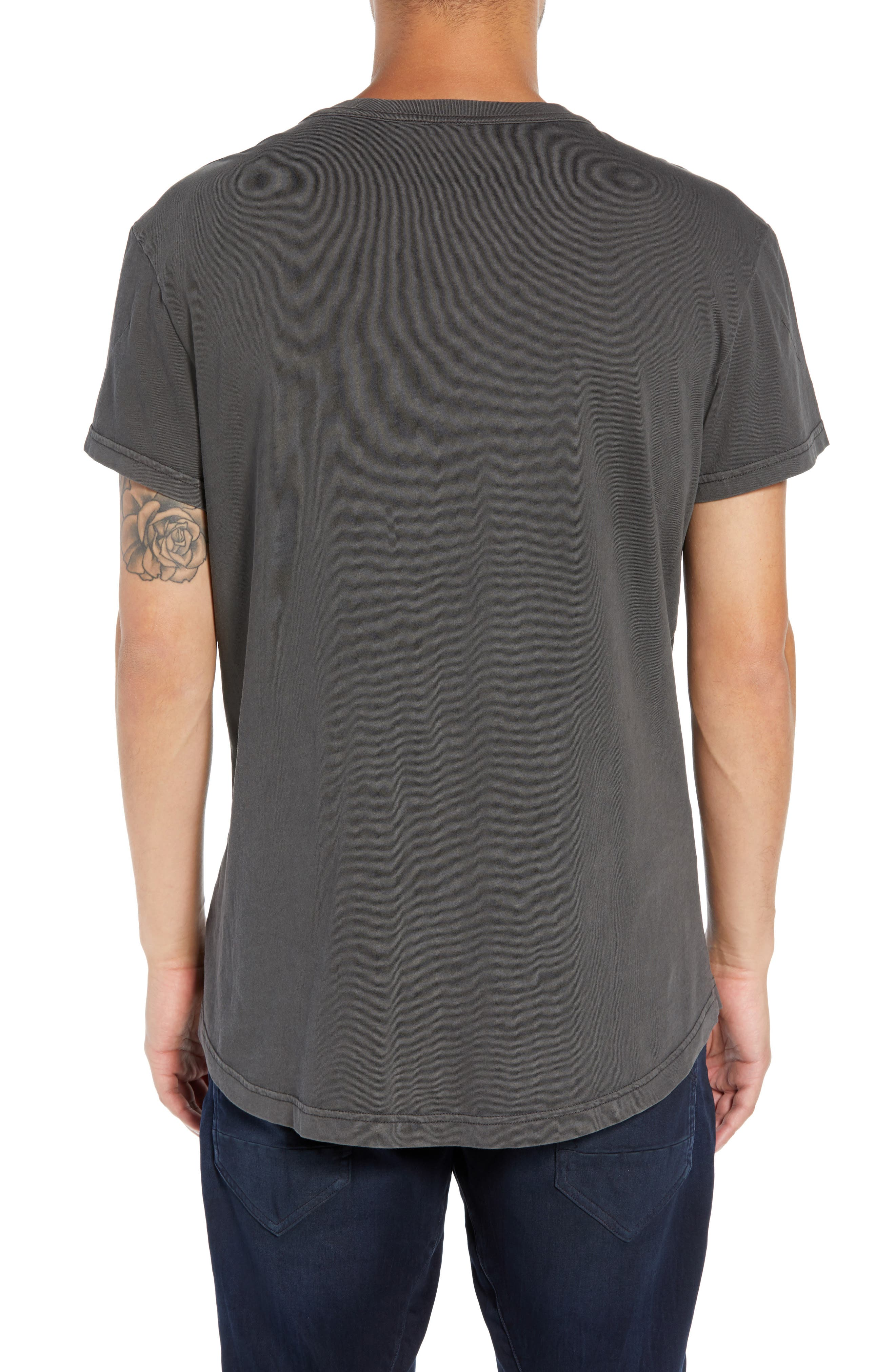 Starkton Solid V-Neck T-Shirt,                             Alternate thumbnail 2, color,                             DARK BLACK