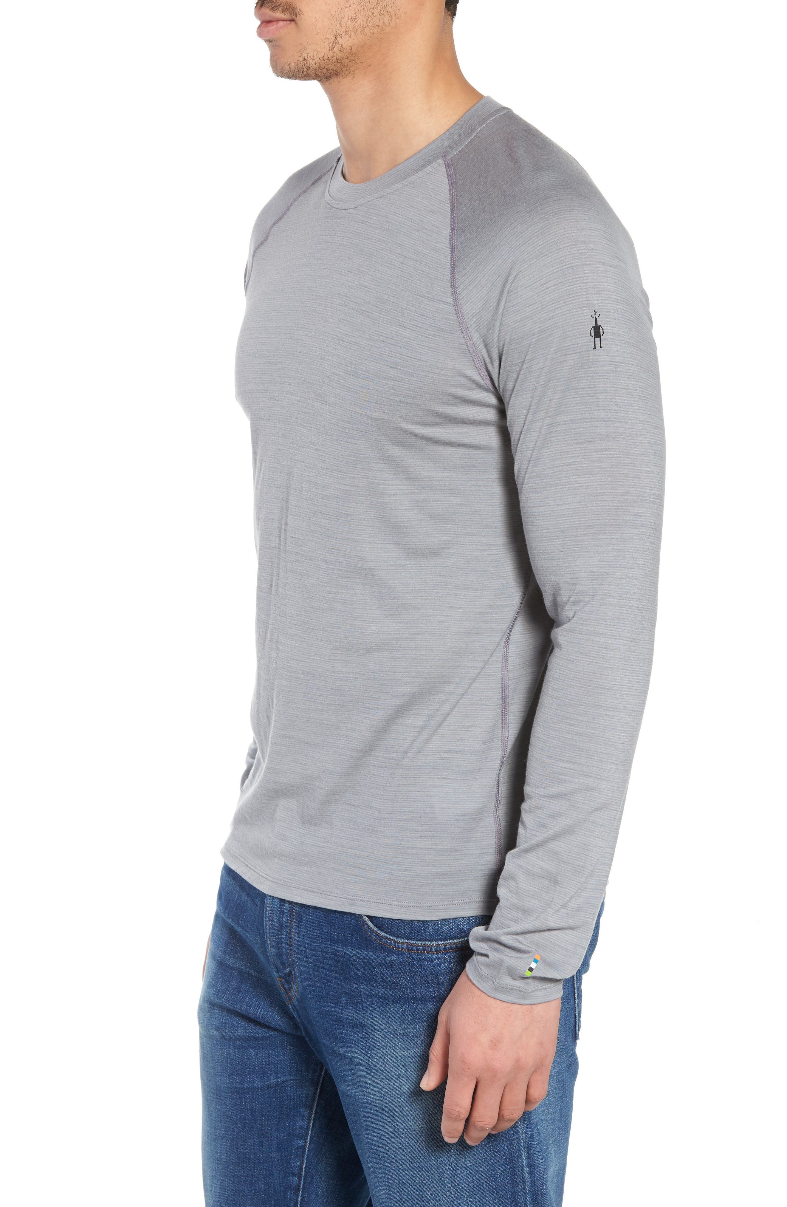 SMARTWOOL,                             Merino 150 Wool Blend Long Sleeve T-Shirt,                             Alternate thumbnail 3, color,                             LIGHT GREY