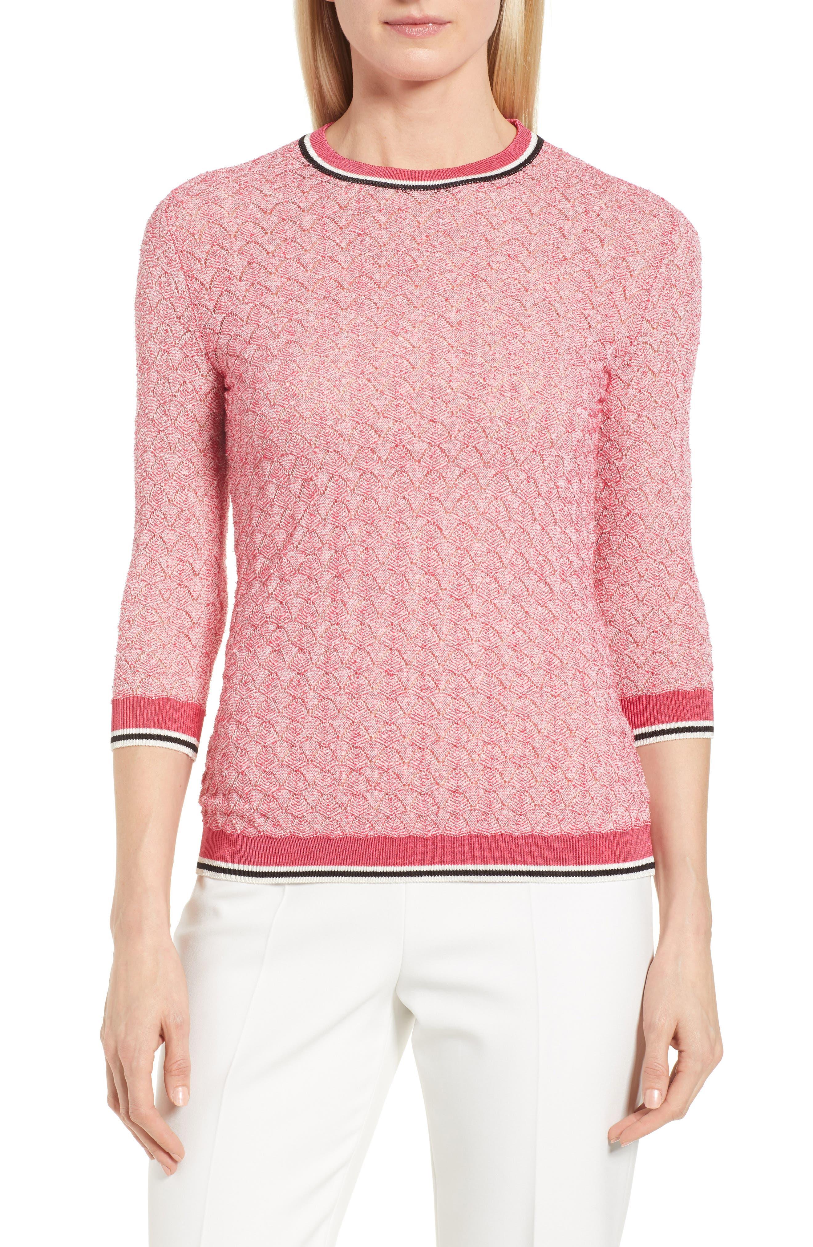 BOSS,                             Basket Weave Sweater,                             Main thumbnail 1, color,                             675