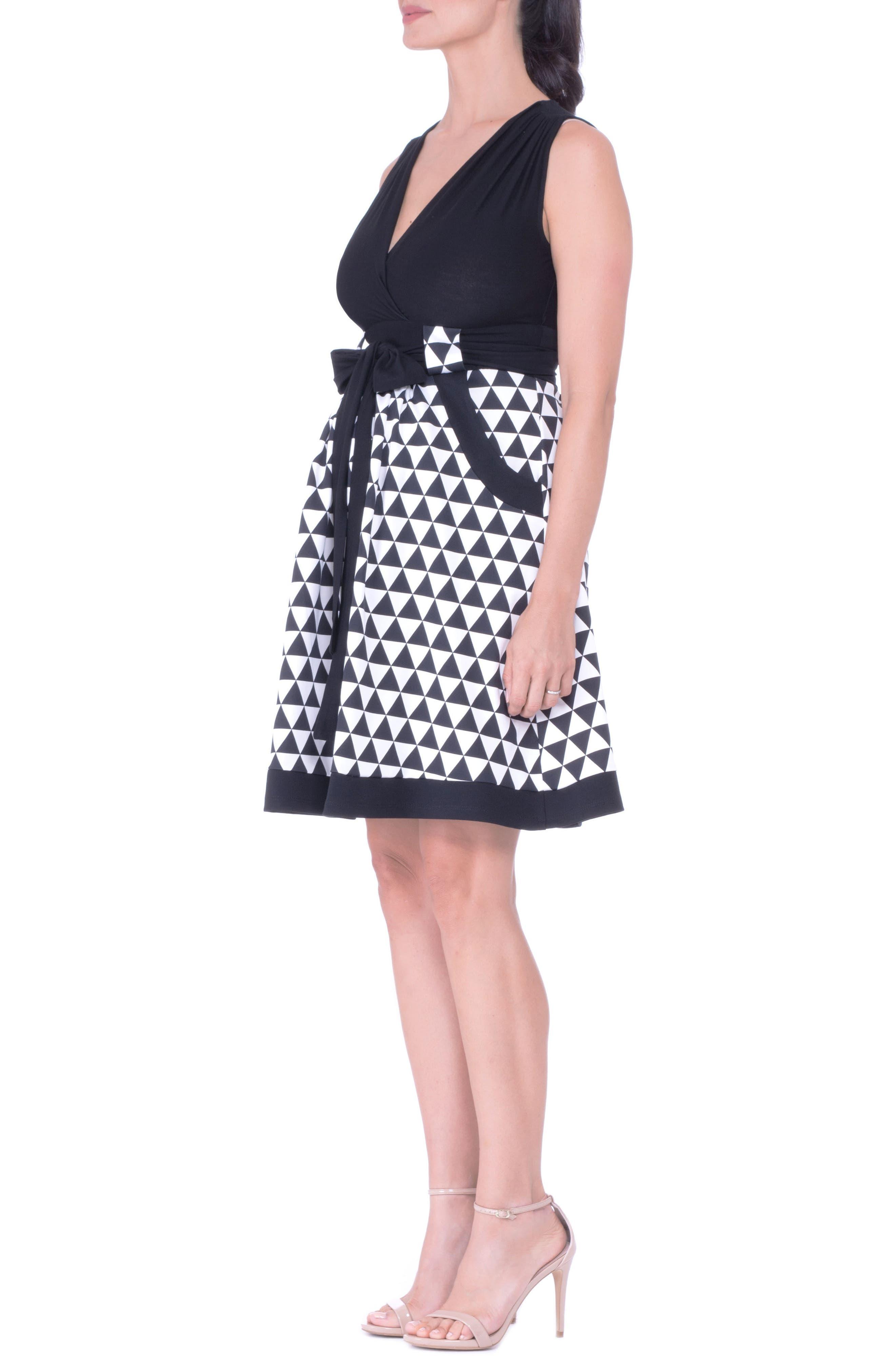 Diamond A-Line Maternity Dress with Surplice Bodice,                         Main,                         color,