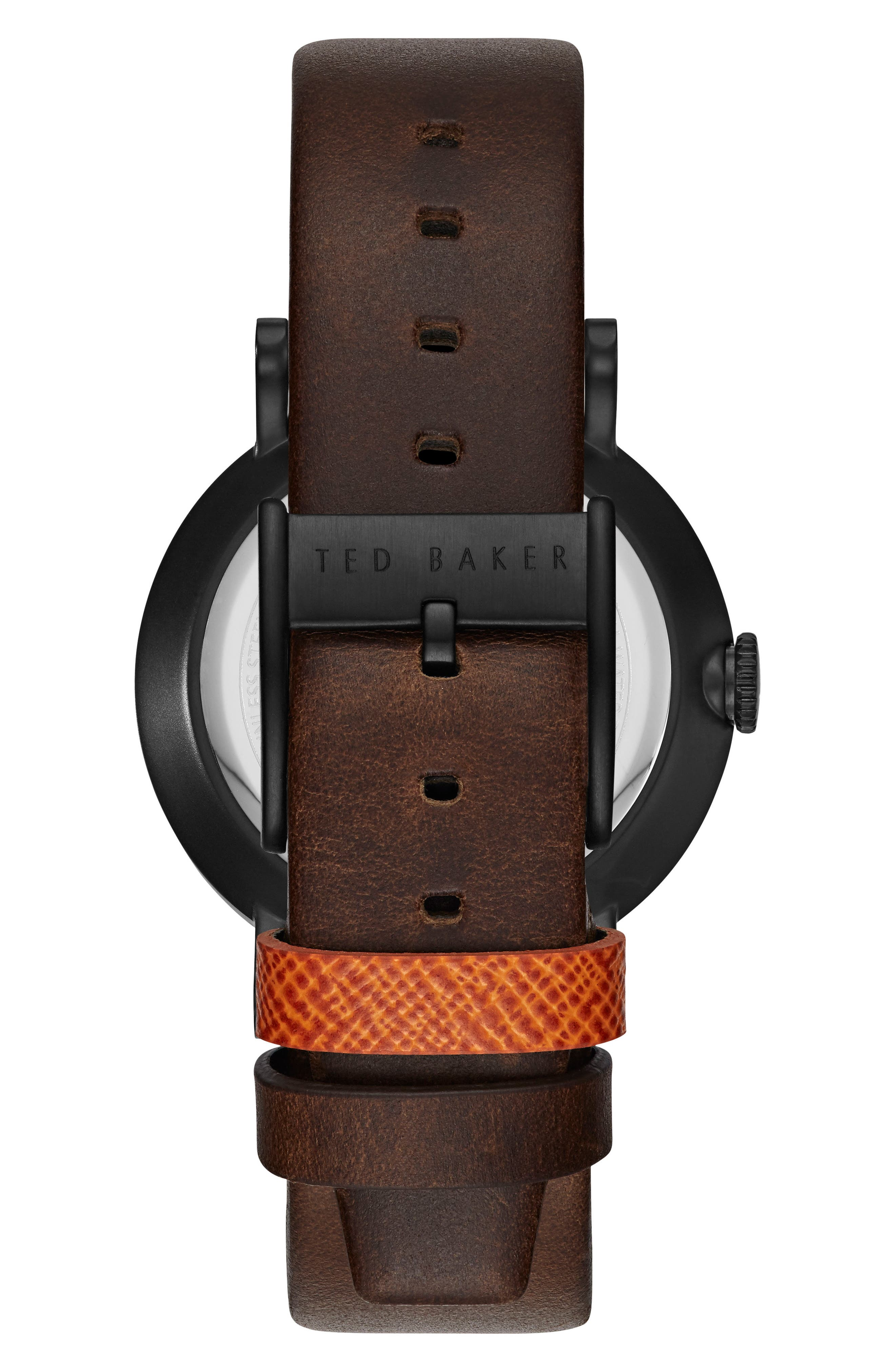 Aiden Multifunction Leather Strap Watch, 41mm,                             Alternate thumbnail 2, color,