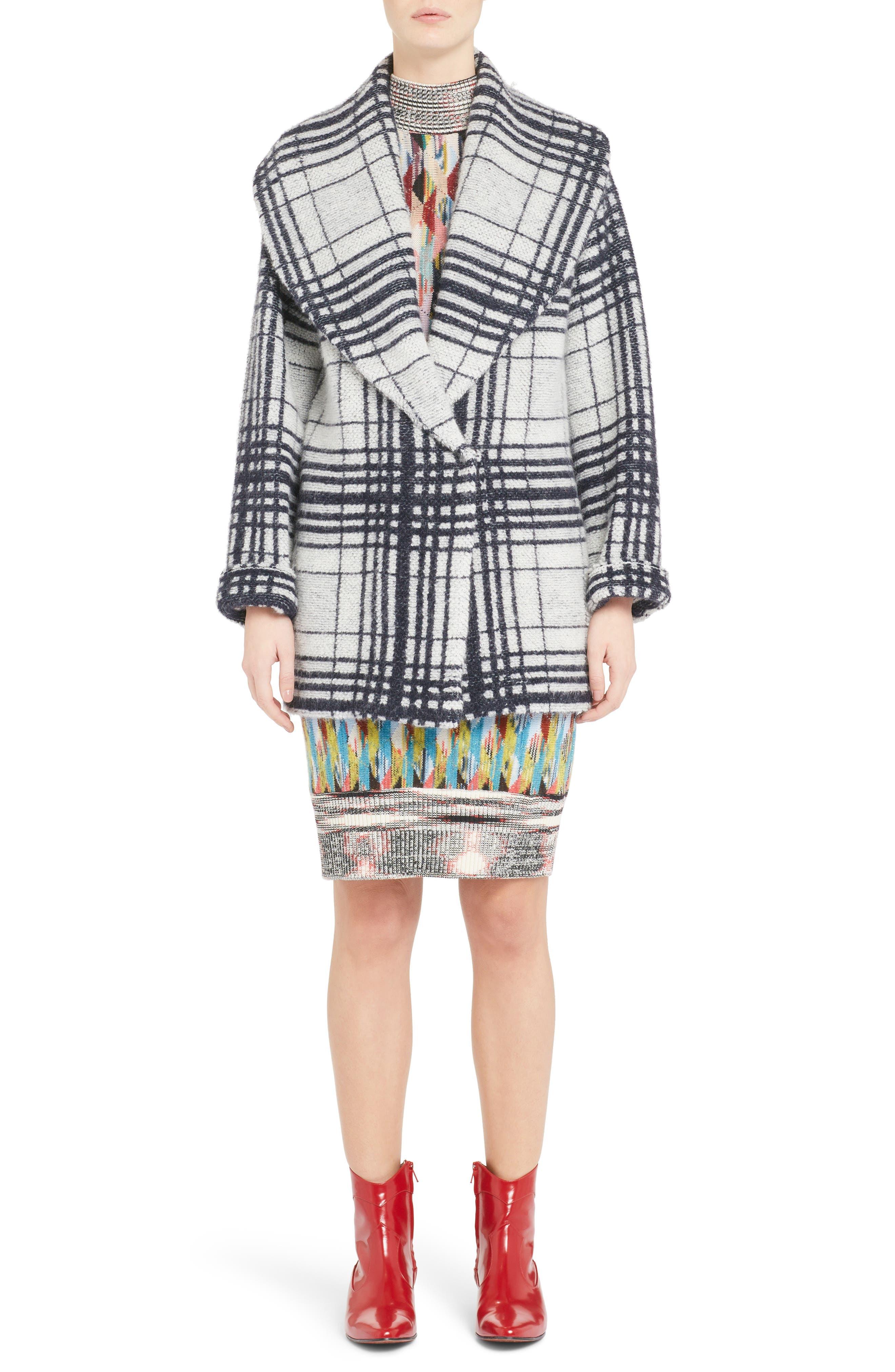 Knit Turtleneck Dress,                             Alternate thumbnail 8, color,                             MULTI