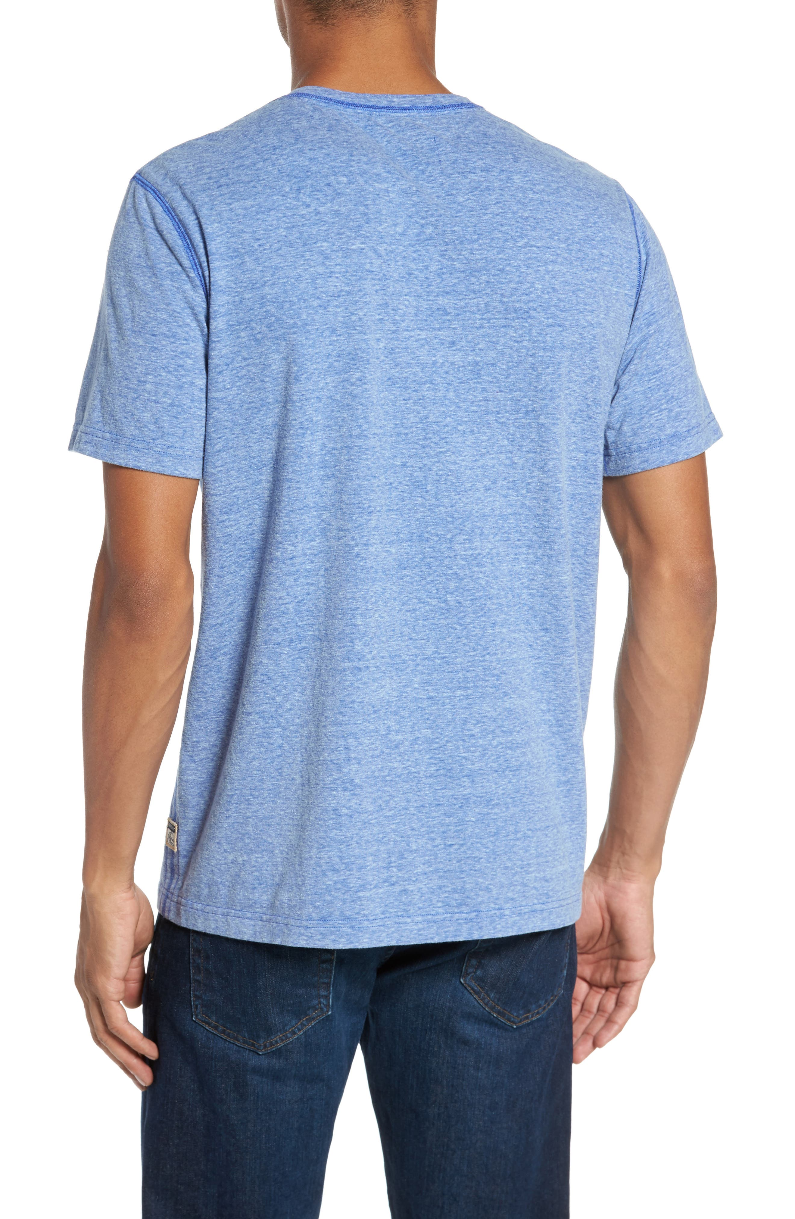 Heathered Short Sleeve Henley,                             Alternate thumbnail 2, color,                             431