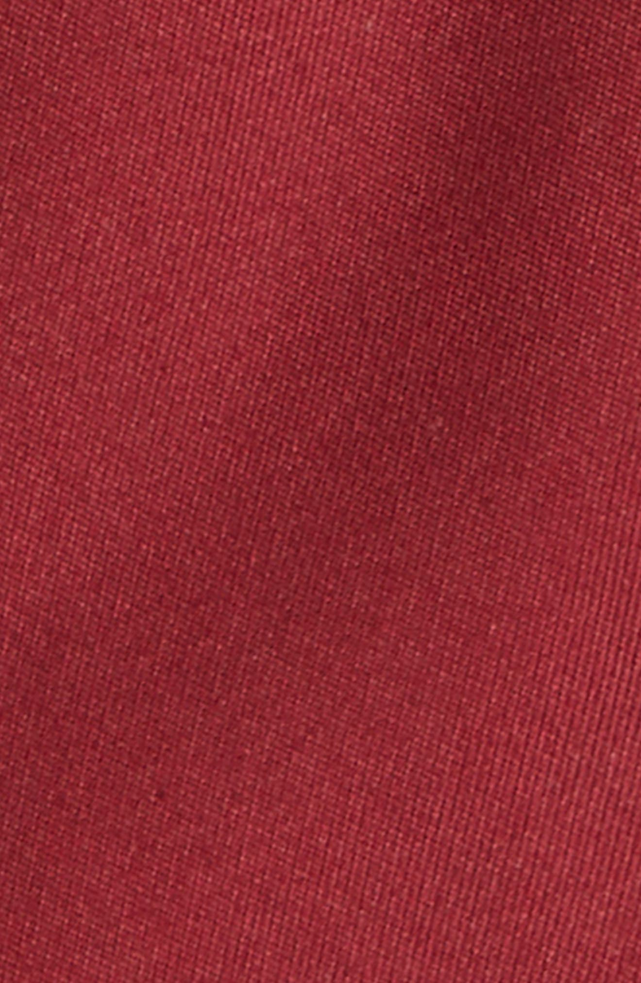 Matte Satin Silk Tie,                             Alternate thumbnail 2, color,                             BURGUNDY