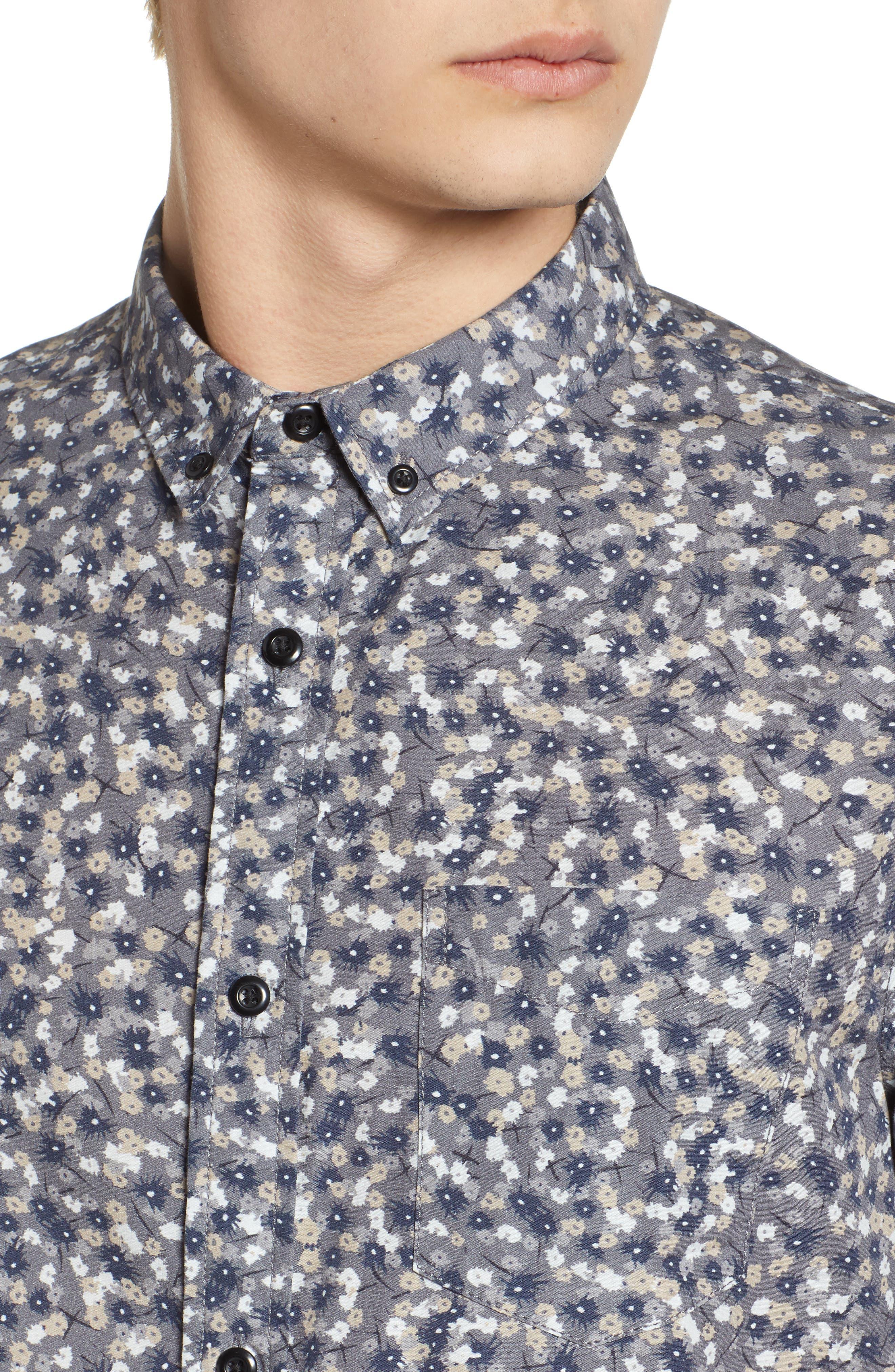 Printed Cotton Poplin Shirt,                             Alternate thumbnail 4, color,                             030
