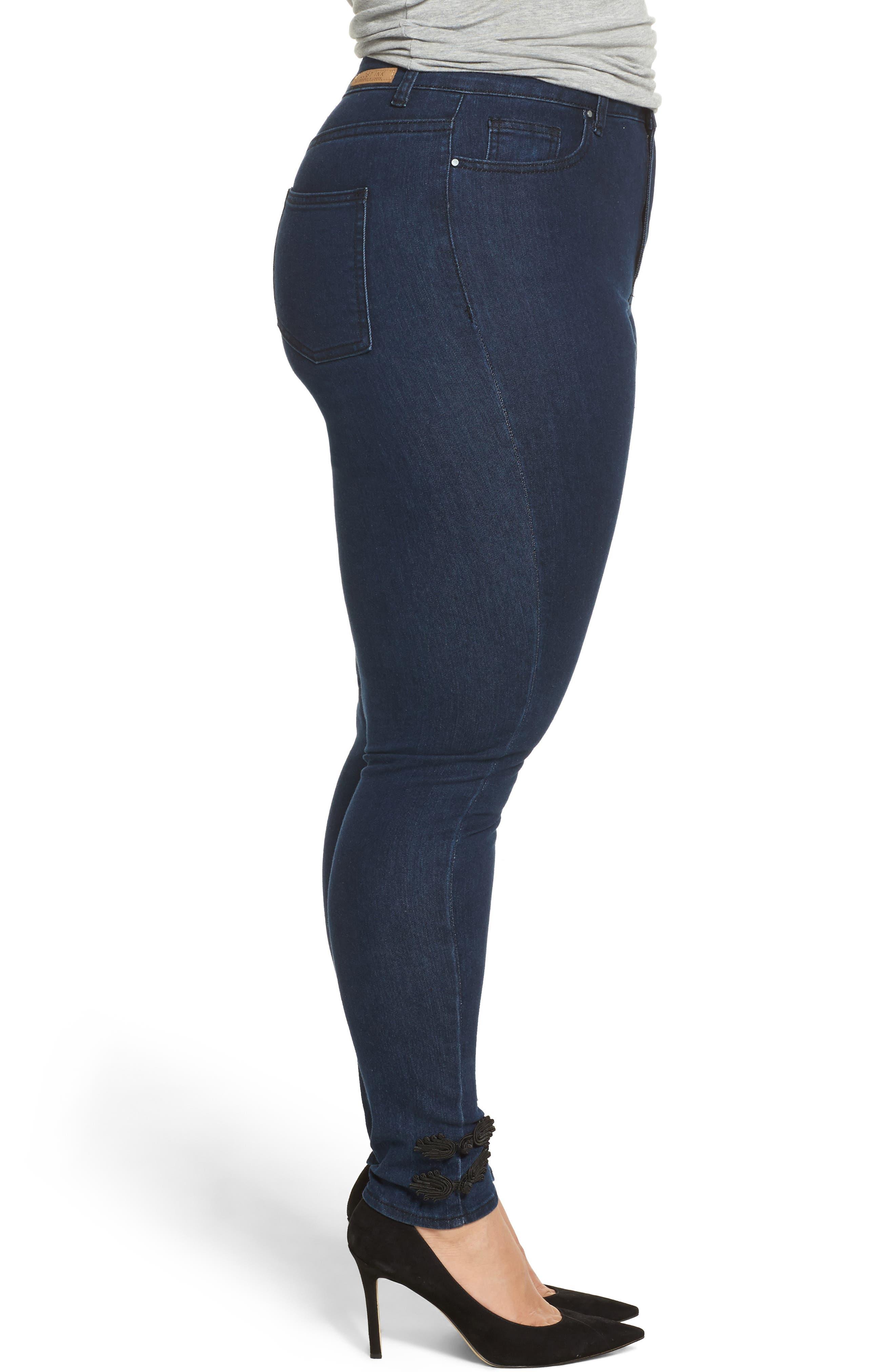 Super High-Waist Skinny Ankle Jeans,                             Alternate thumbnail 3, color,                             401