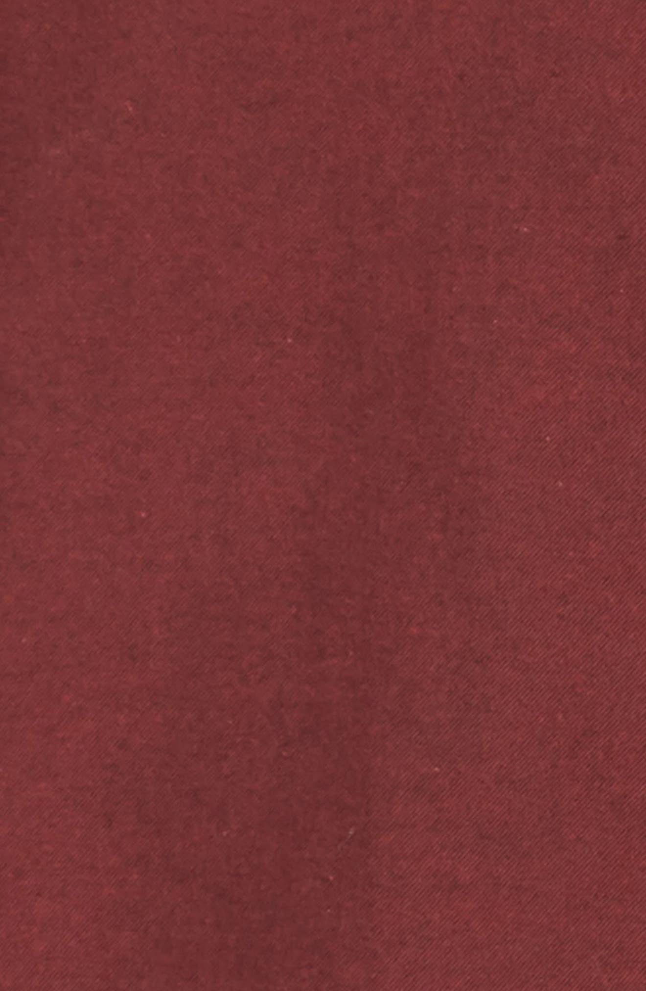 NORDSTROM MEN'S SHOP,                             Slim Fit Brushed Twill Sport Shirt,                             Alternate thumbnail 6, color,                             RED JESTER BRUSHED TWILL