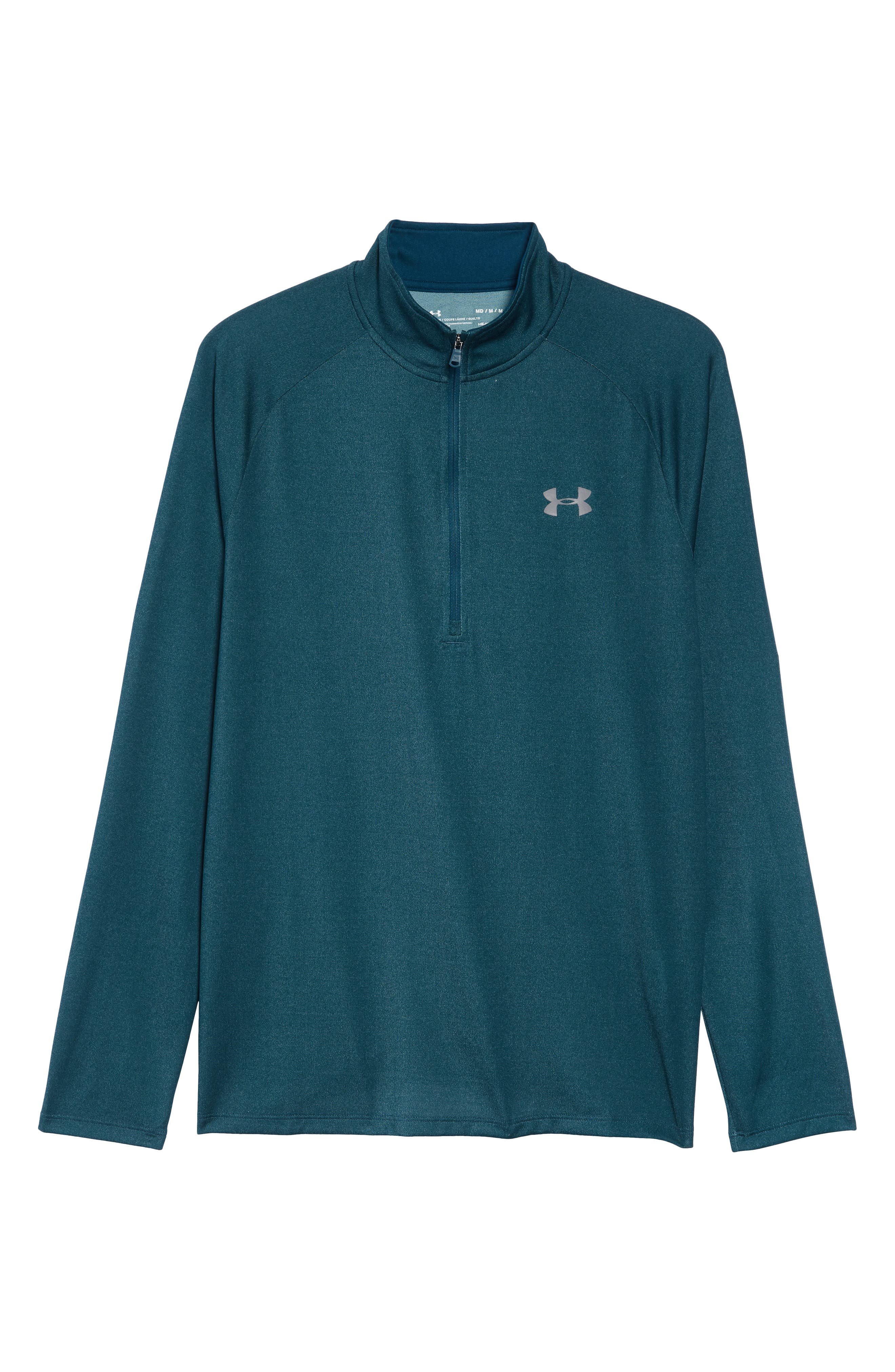 Tech Half Zip Sweatshirt,                             Alternate thumbnail 6, color,                             TEAL