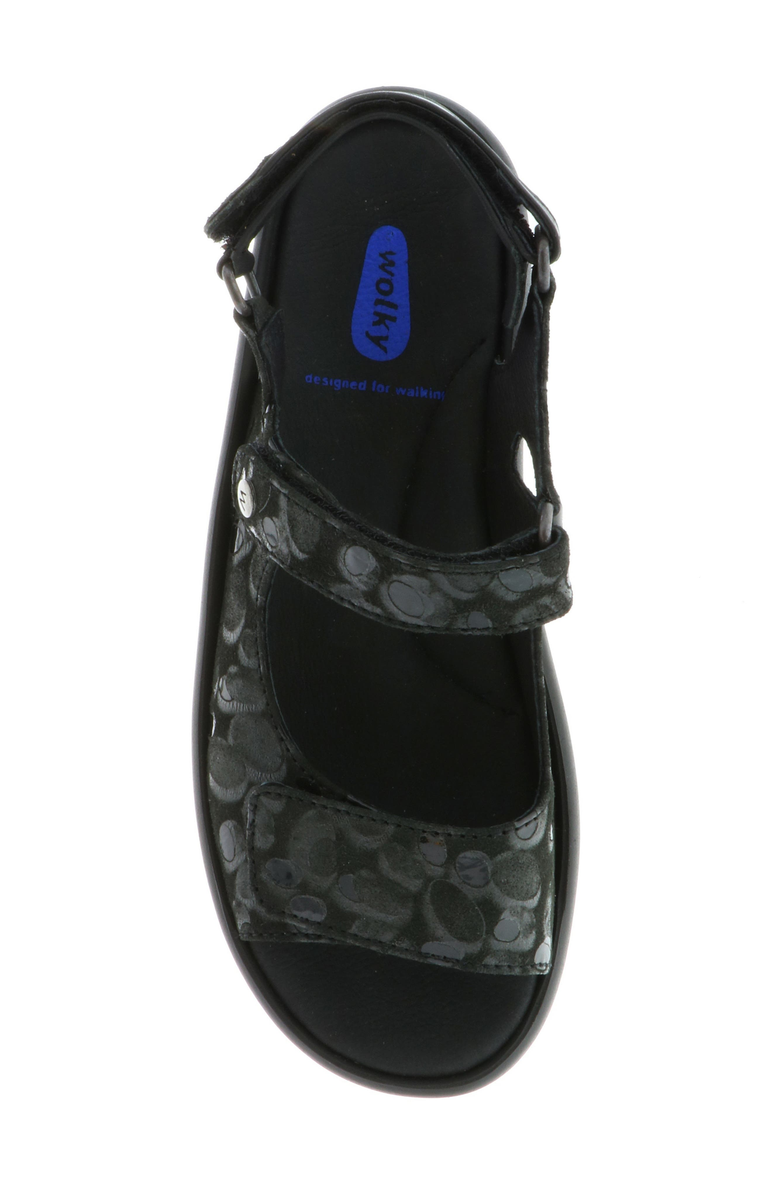 Rio Sandal,                             Alternate thumbnail 5, color,                             BLACK CIRCLE PRINT