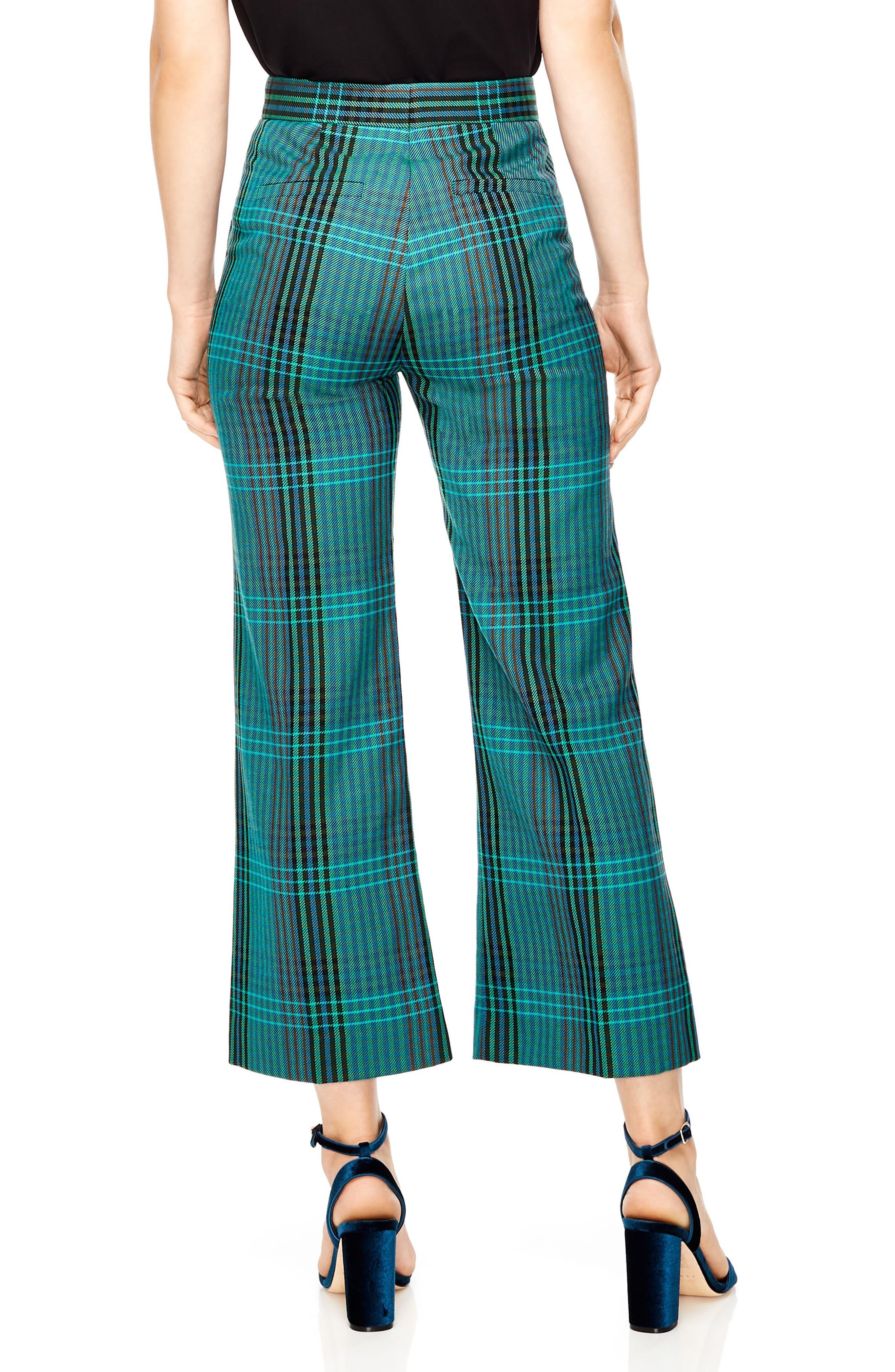 Otis Plaid Crop Pants,                             Alternate thumbnail 2, color,                             MULTI
