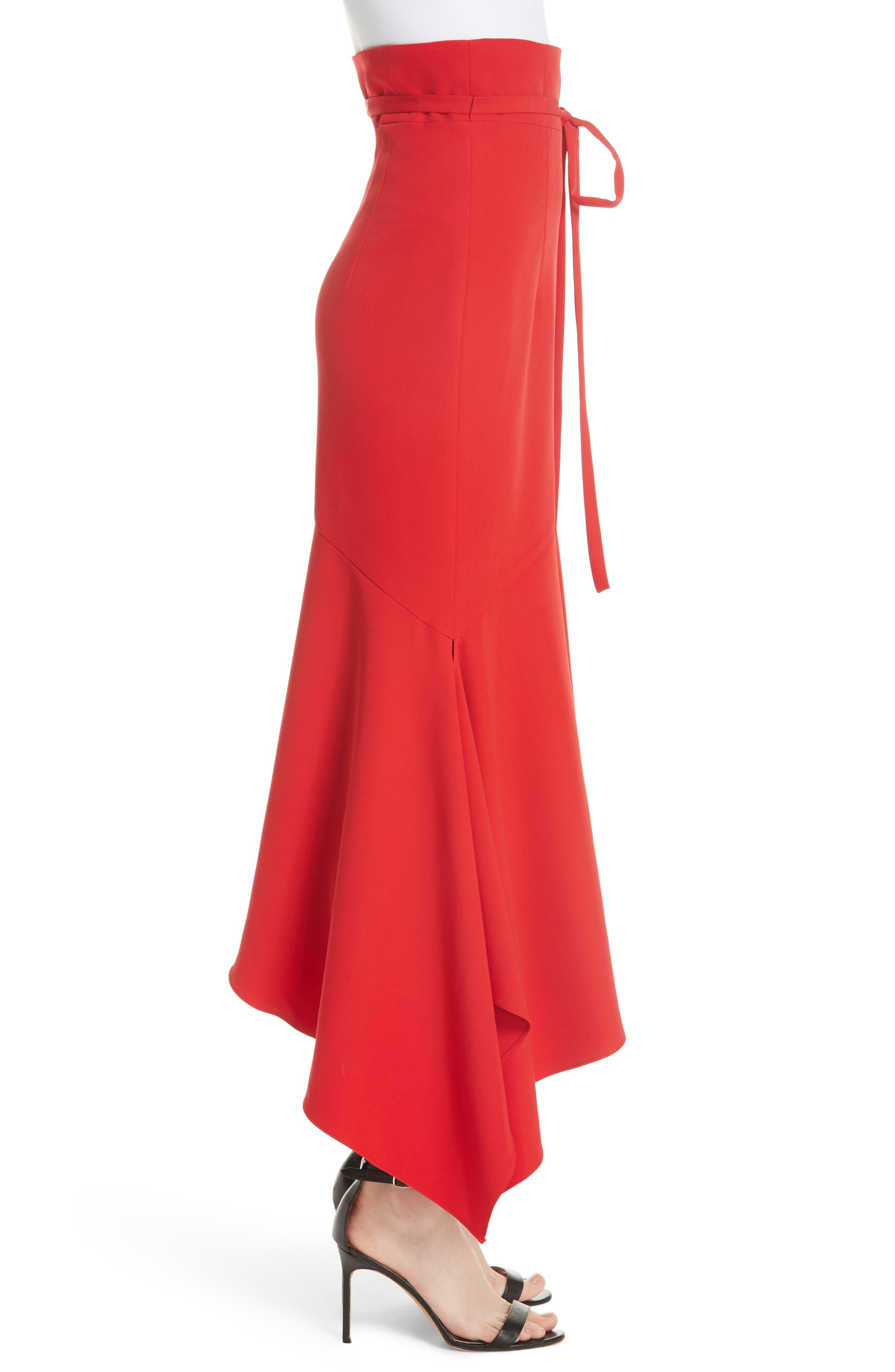 Italian Cady Maxi Skirt,                             Alternate thumbnail 3, color,                             607