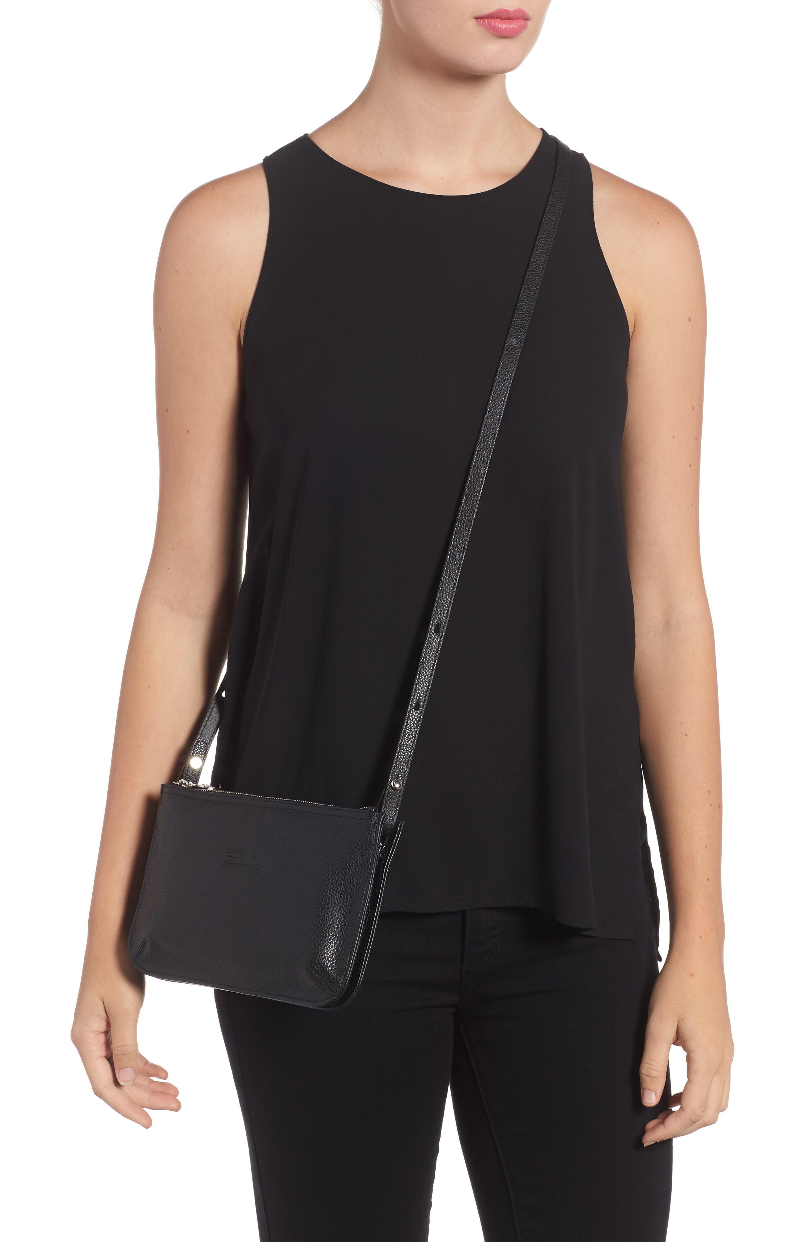 Le Foulonne Leather Crossbody Bag,                             Alternate thumbnail 2, color,                             002