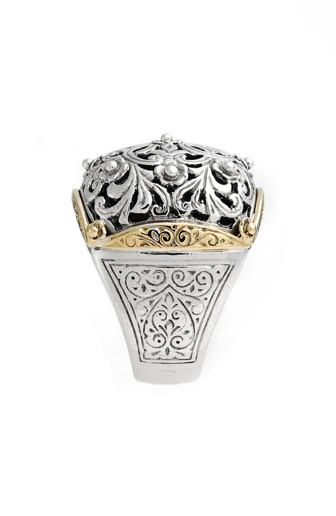 'Silver & Gold Classics' Filigree Ring,                             Alternate thumbnail 2, color,                             040