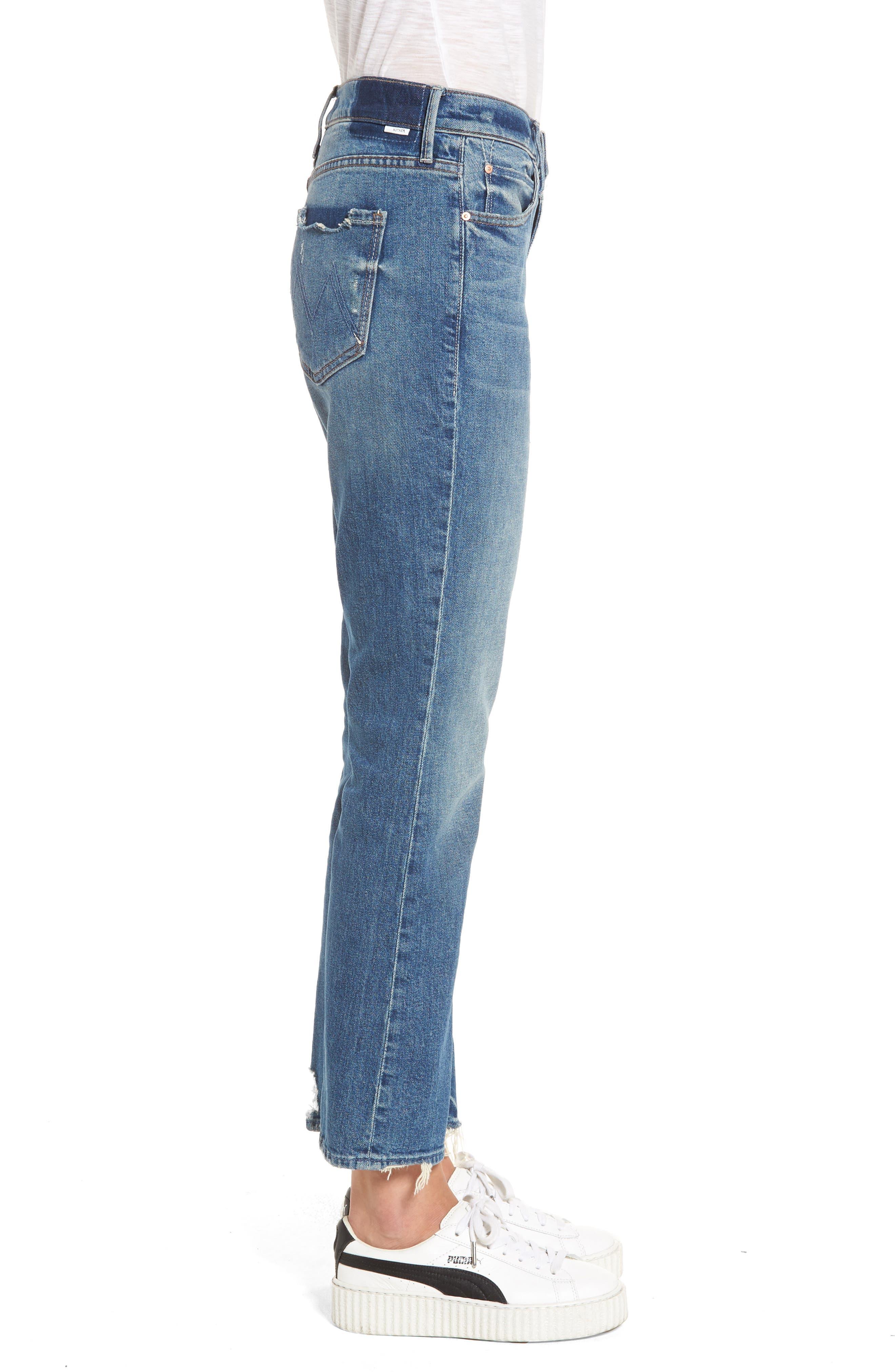 The Dutchie Crop Straight Leg Jeans,                             Alternate thumbnail 3, color,                             413