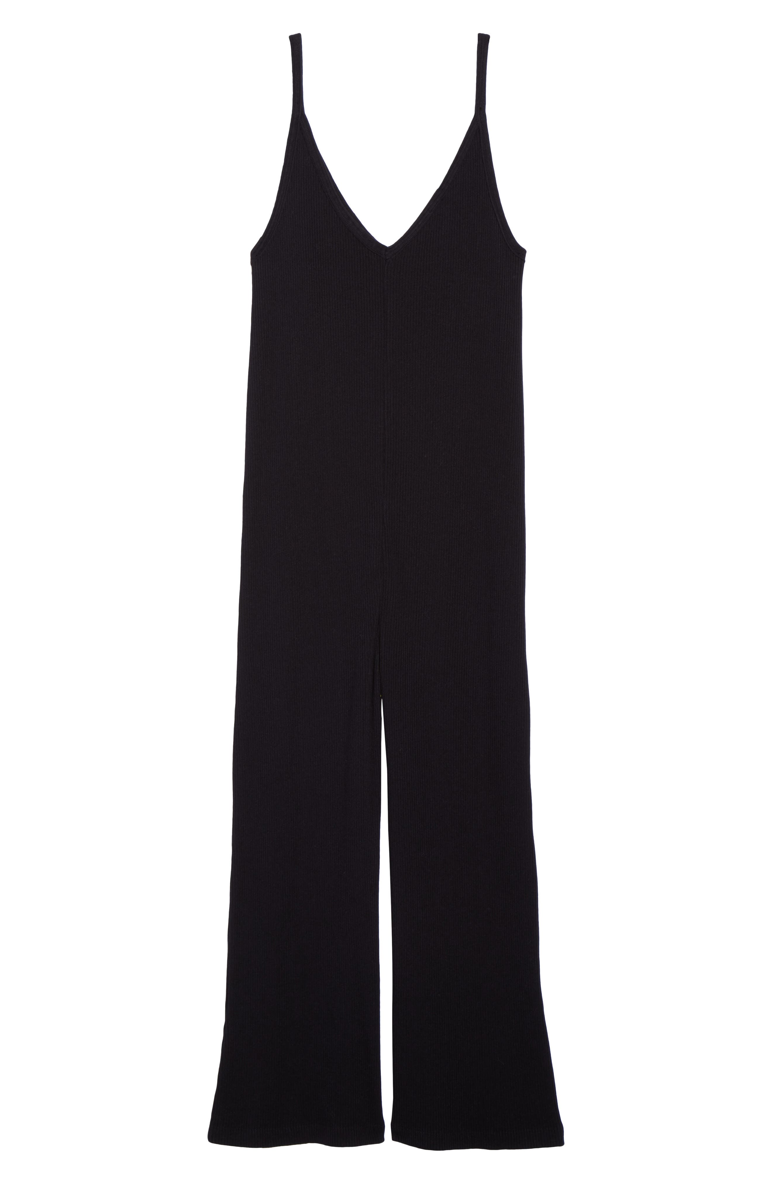 Naomi Knit Lounge Jumpsuit,                             Alternate thumbnail 6, color,                             009