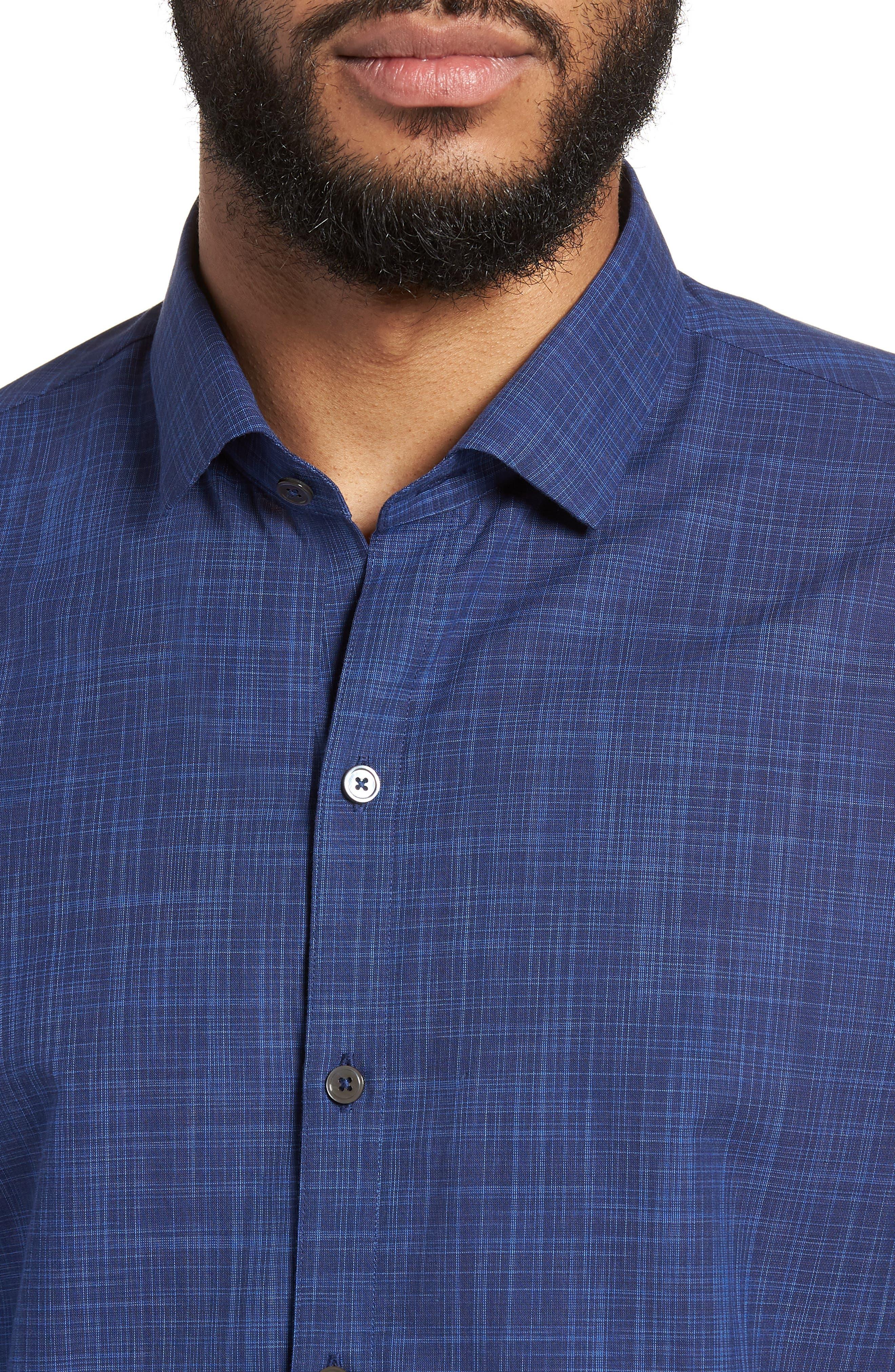 Genndy Regular Fit Sport Shirt,                             Alternate thumbnail 4, color,