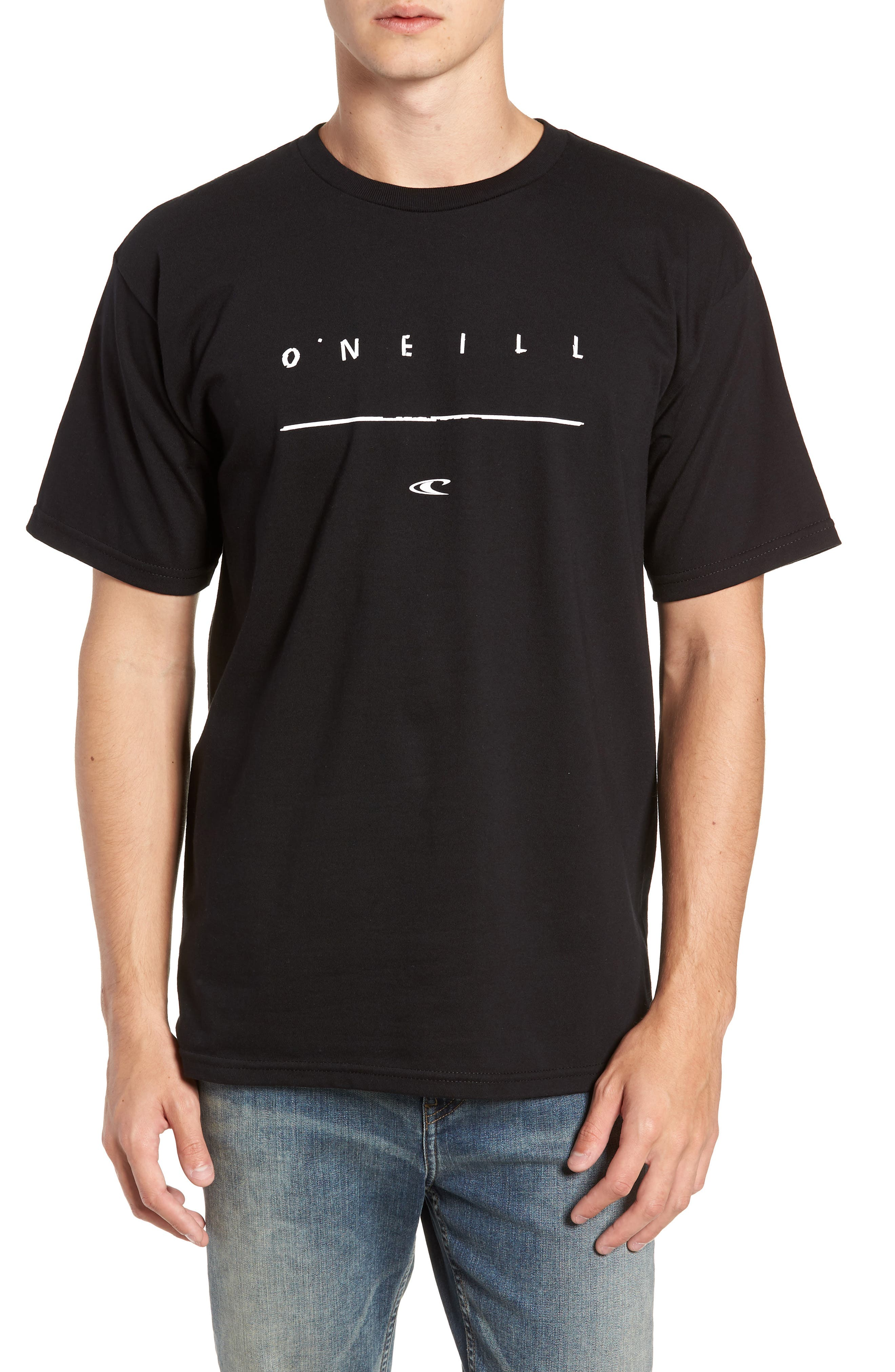 Taper Logo Graphic T-Shirt,                             Main thumbnail 1, color,                             BLACK