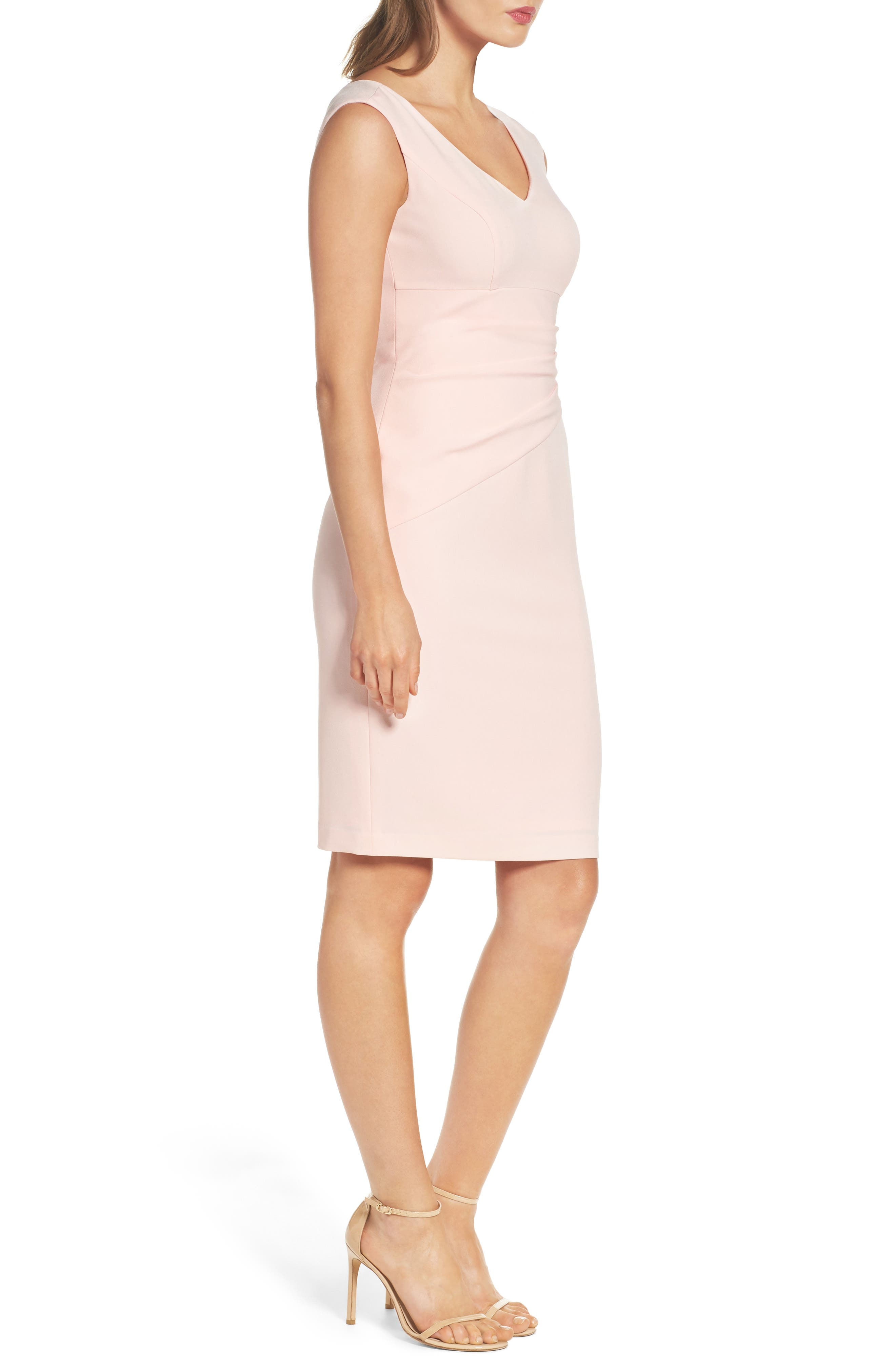 Crepe Sheath Dress,                             Alternate thumbnail 6, color,