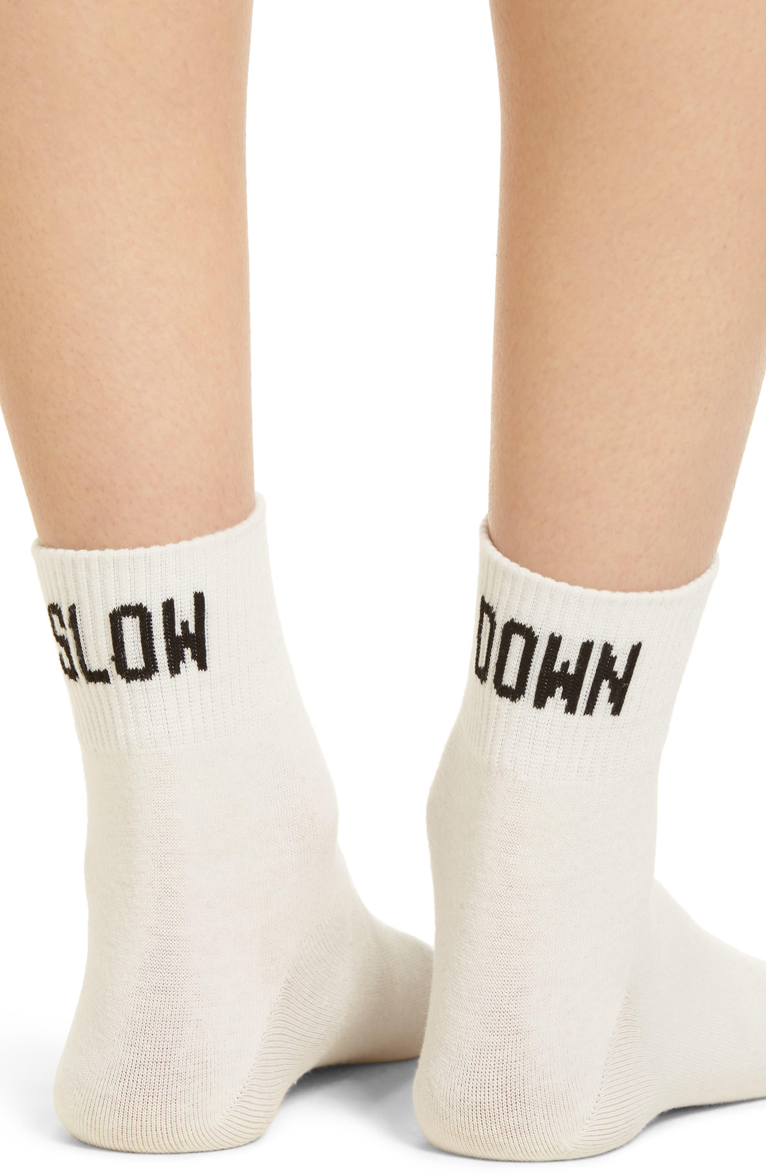 Slow Down Ankle Socks,                             Alternate thumbnail 3, color,                             100