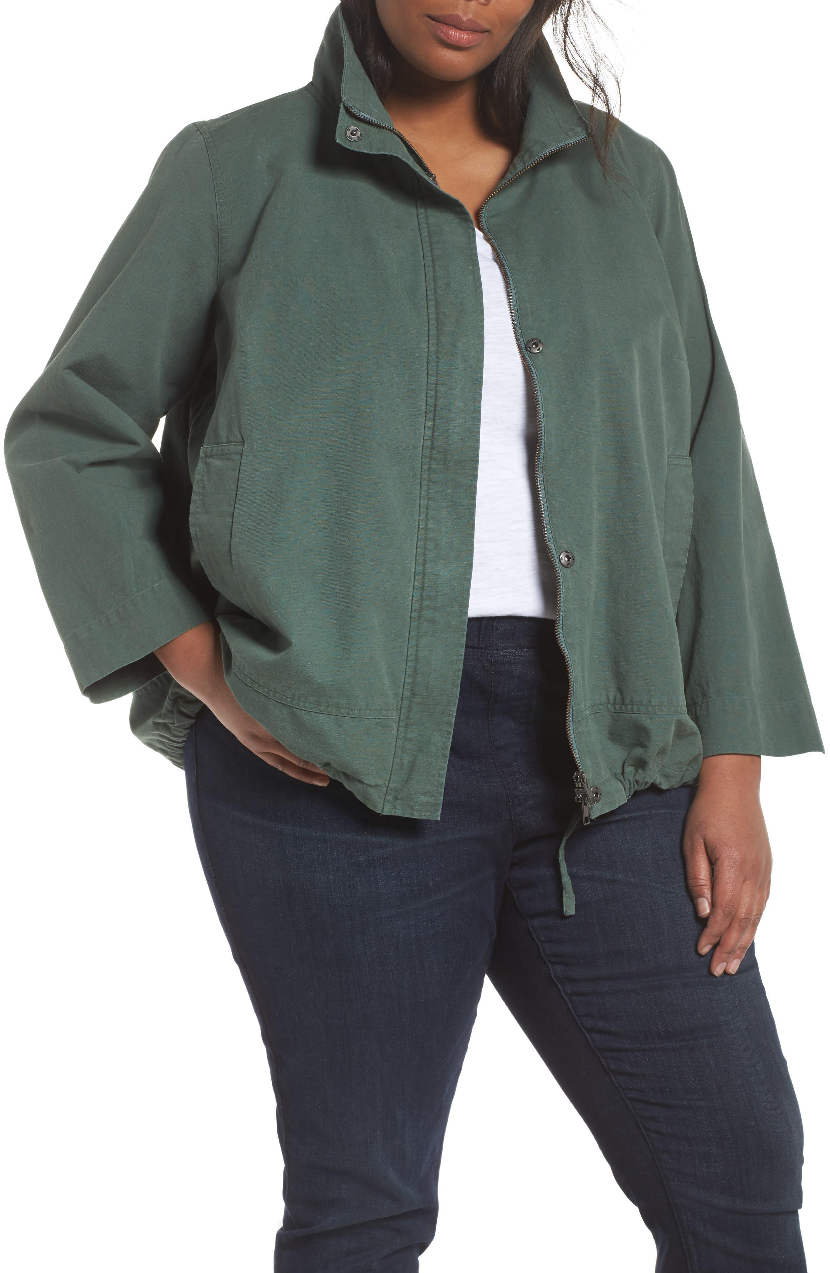 Stand Collar Jacket,                             Main thumbnail 1, color,                             554
