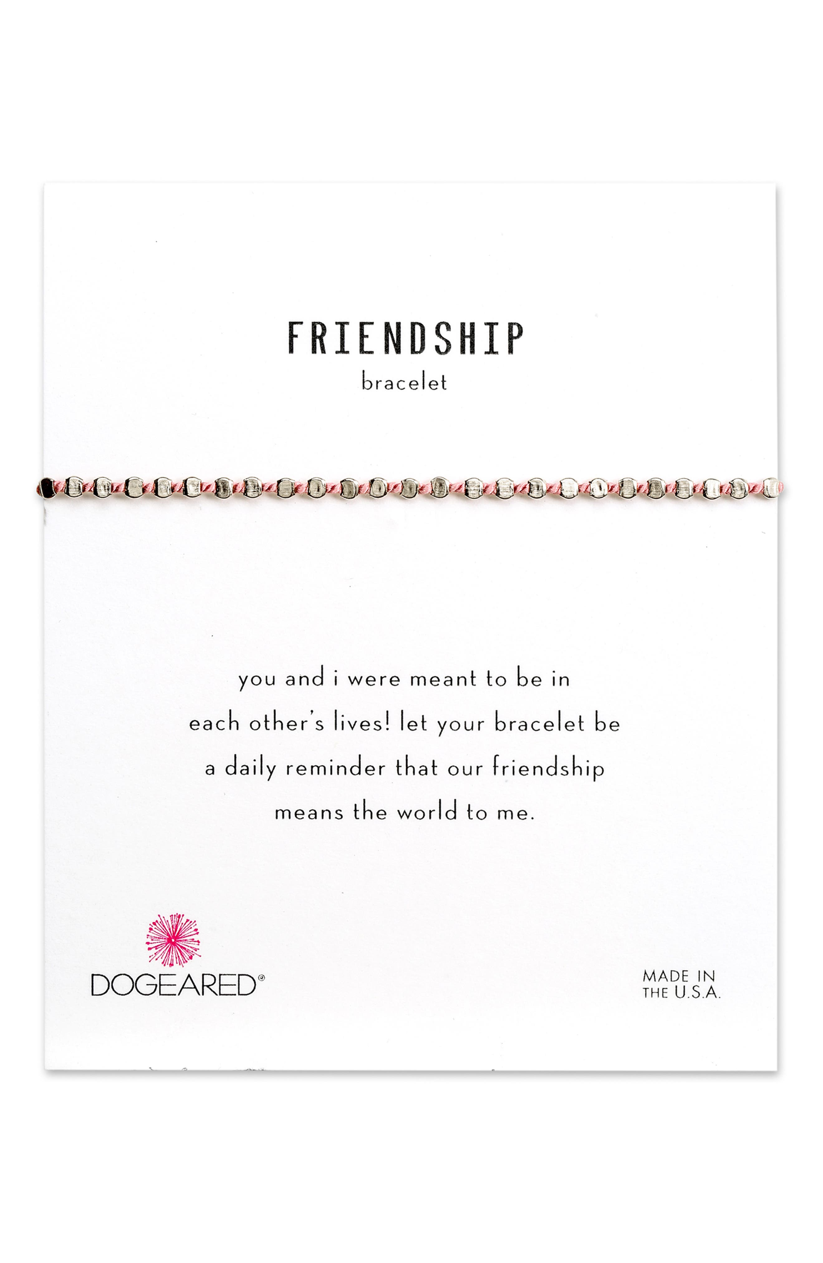Flat Bead Pin Friendship Bracelet,                             Main thumbnail 2, color,