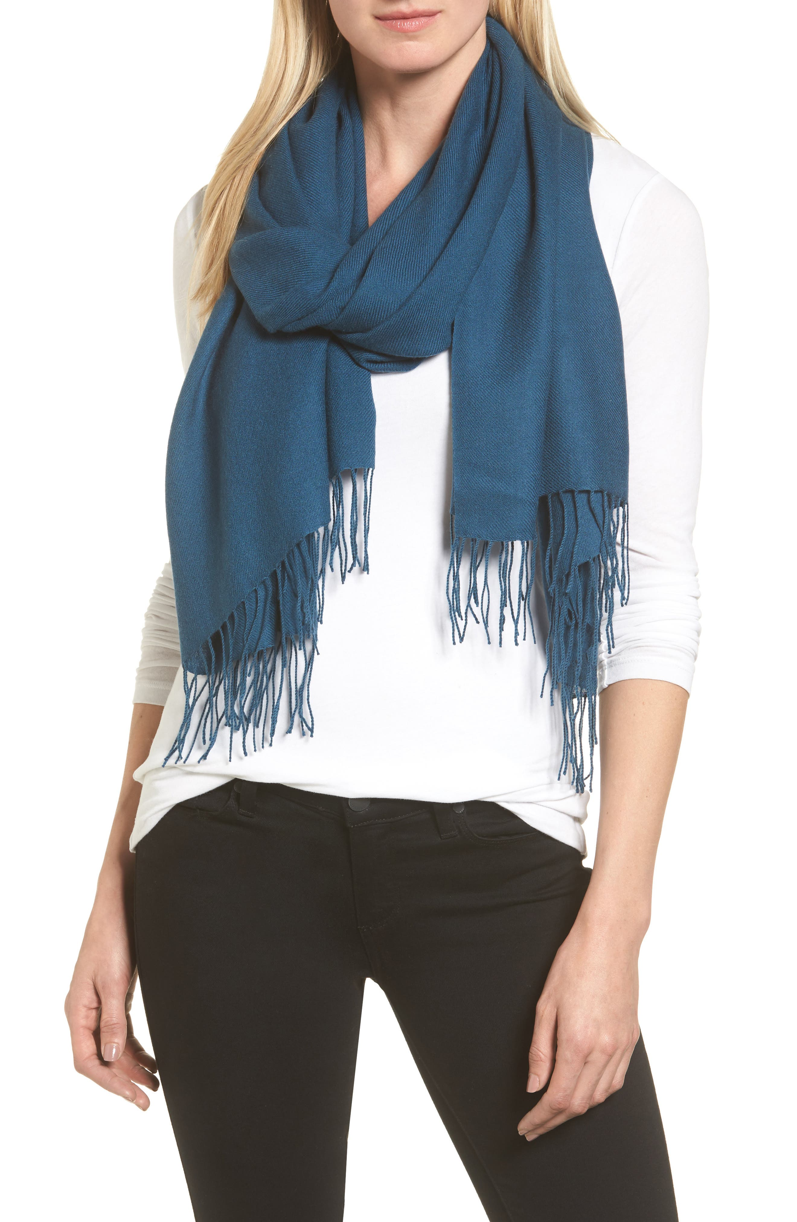Tissue Weight Wool & Cashmere Scarf,                             Main thumbnail 31, color,