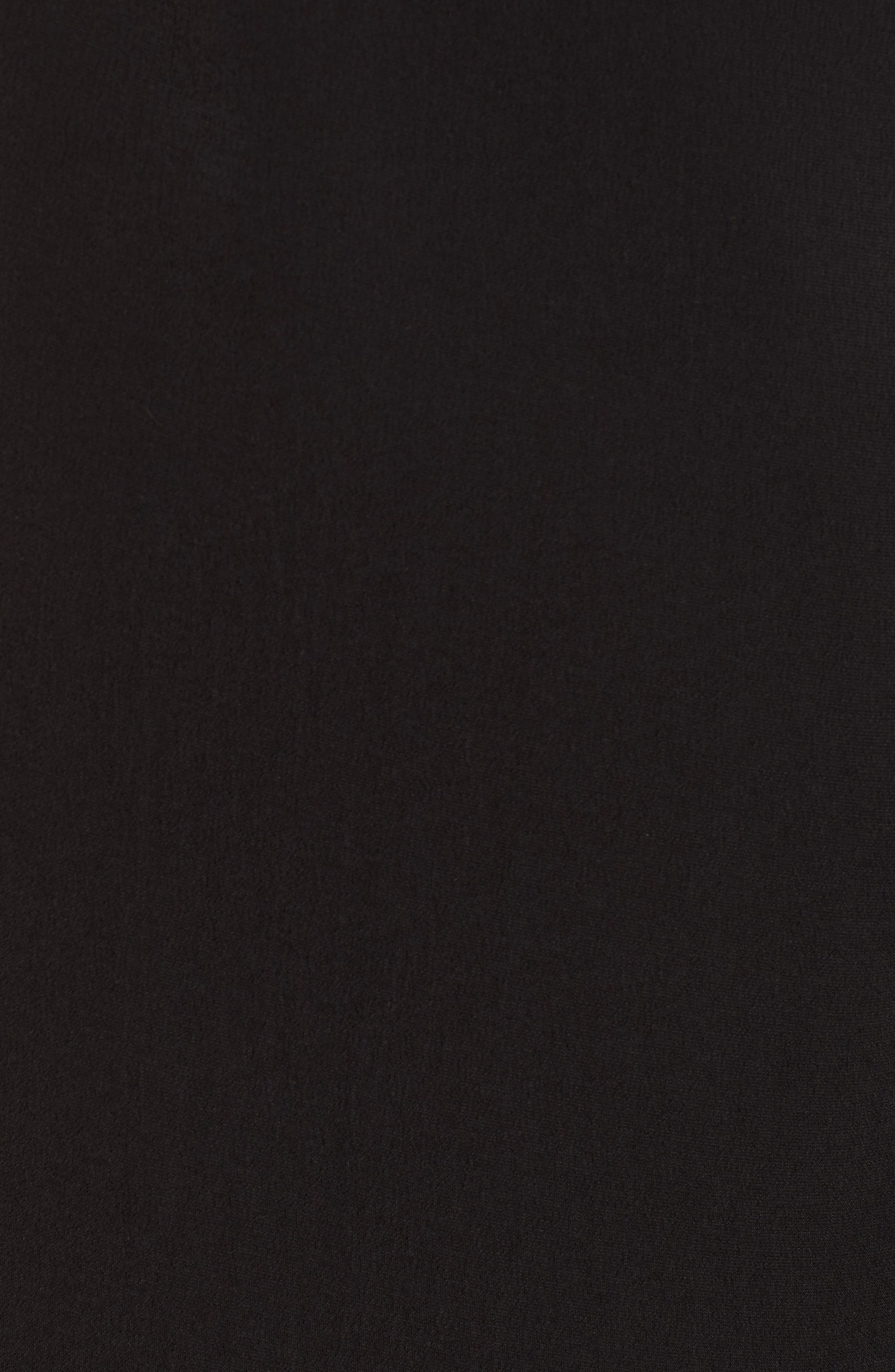 Coat Tail Top,                             Alternate thumbnail 5, color,                             BLACK