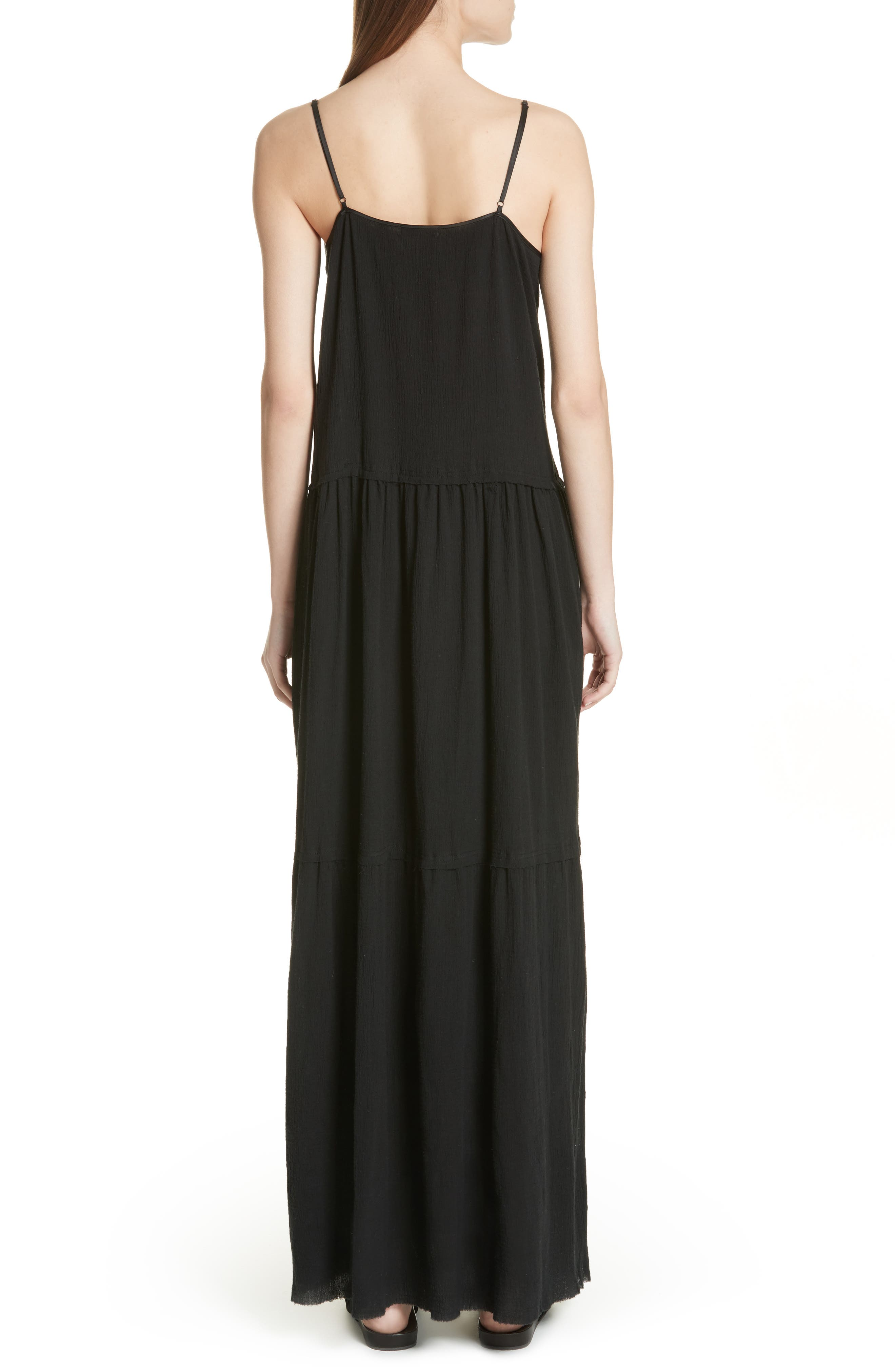 Tiered Maxi Dress,                             Alternate thumbnail 2, color,                             001