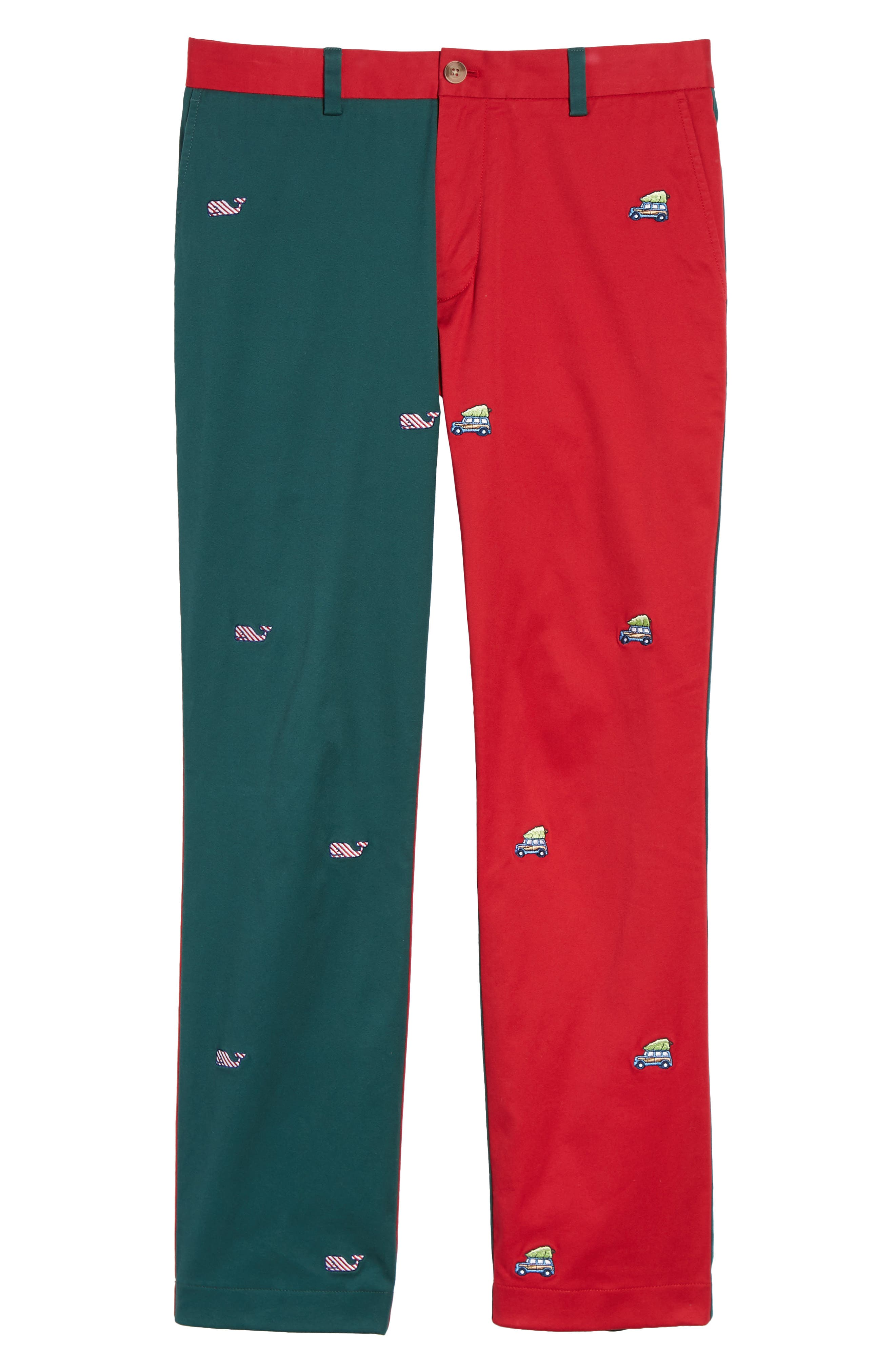 Breaker Embroidered Pieced Pants,                             Alternate thumbnail 6, color,