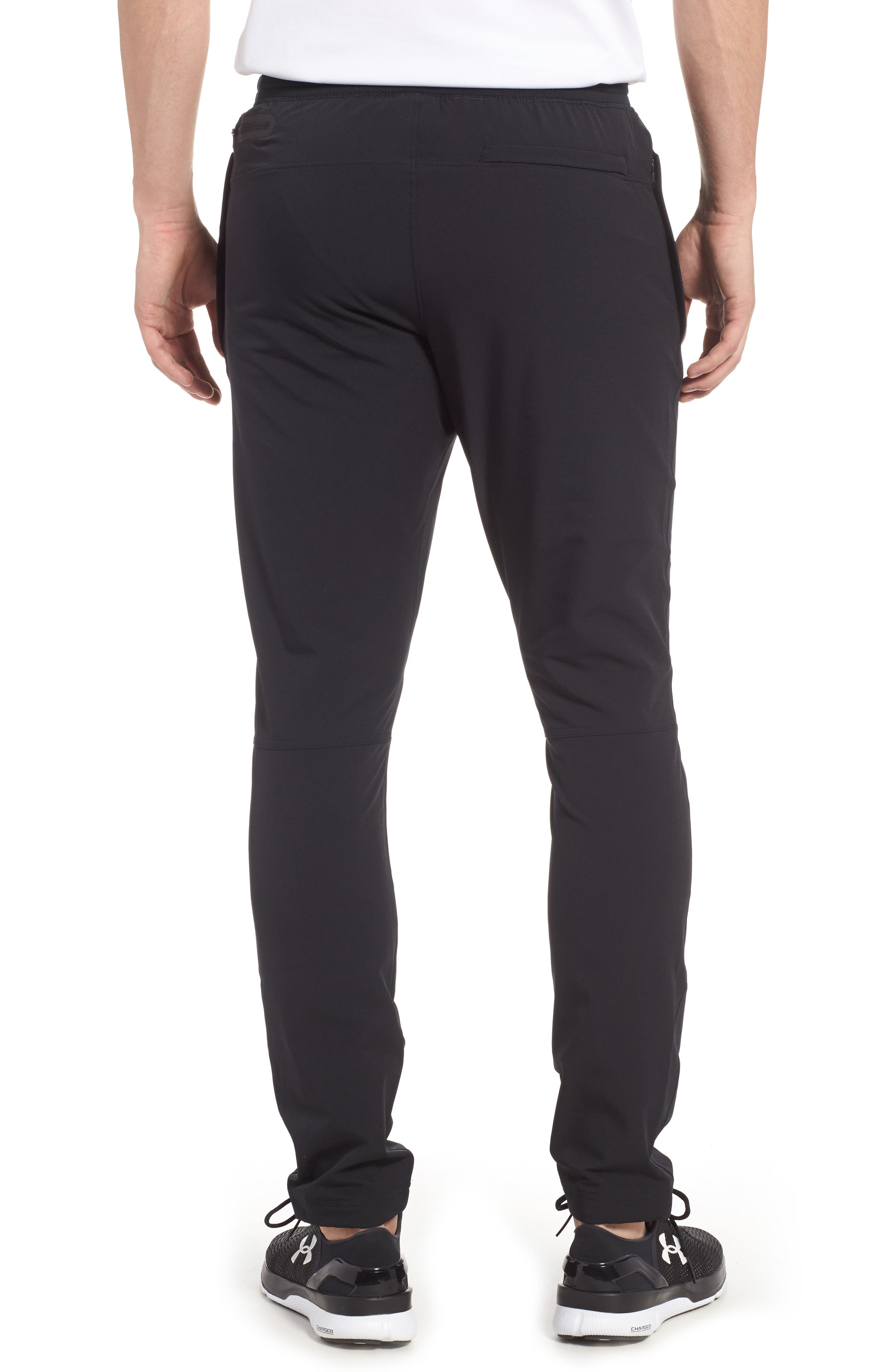 Fitted Woven Training Pants,                             Alternate thumbnail 2, color,                             BLACK