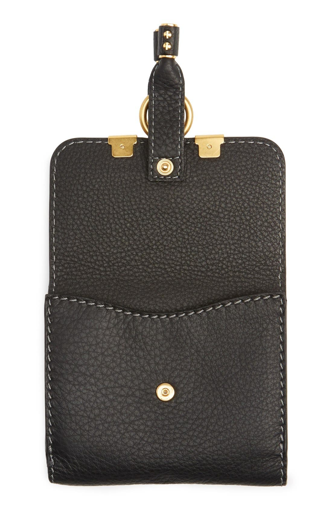 CHLOÉ,                             'Marcie' French Wallet,                             Alternate thumbnail 5, color,                             BLACK