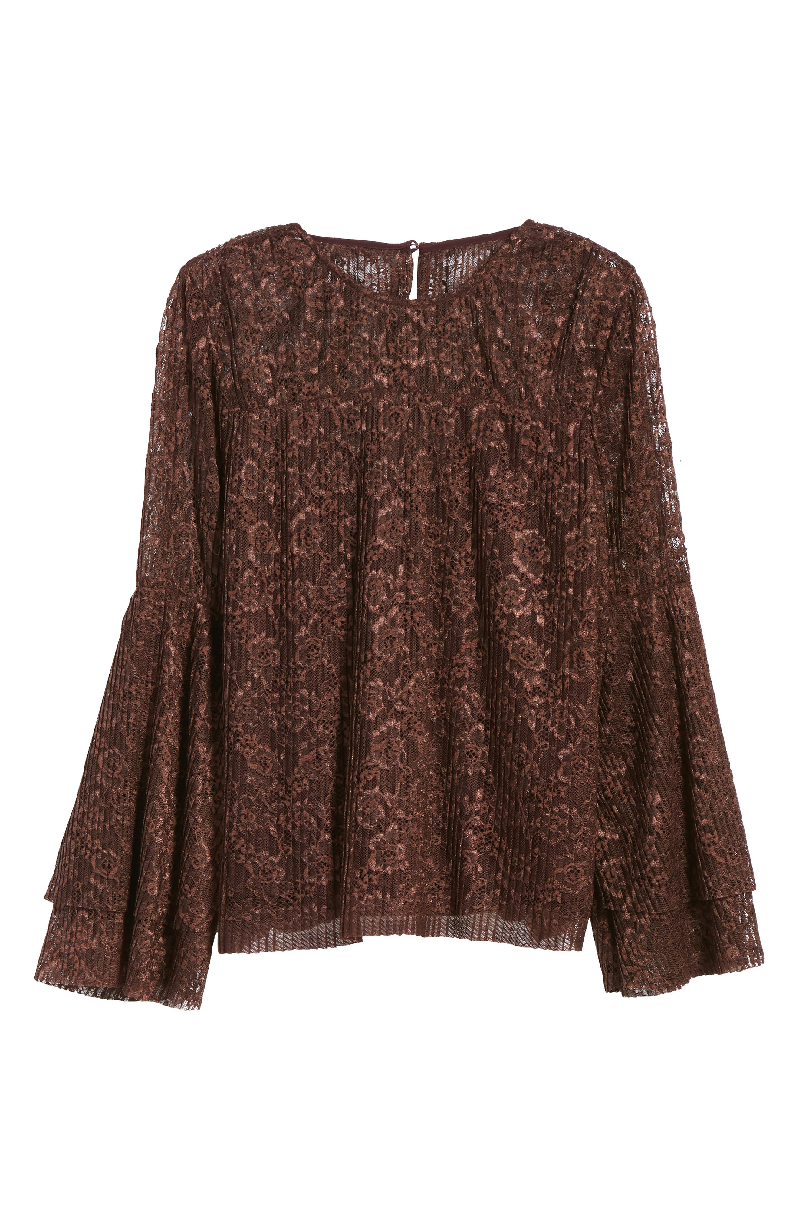 Lace Bell Sleeve Top,                             Alternate thumbnail 6, color,                             937