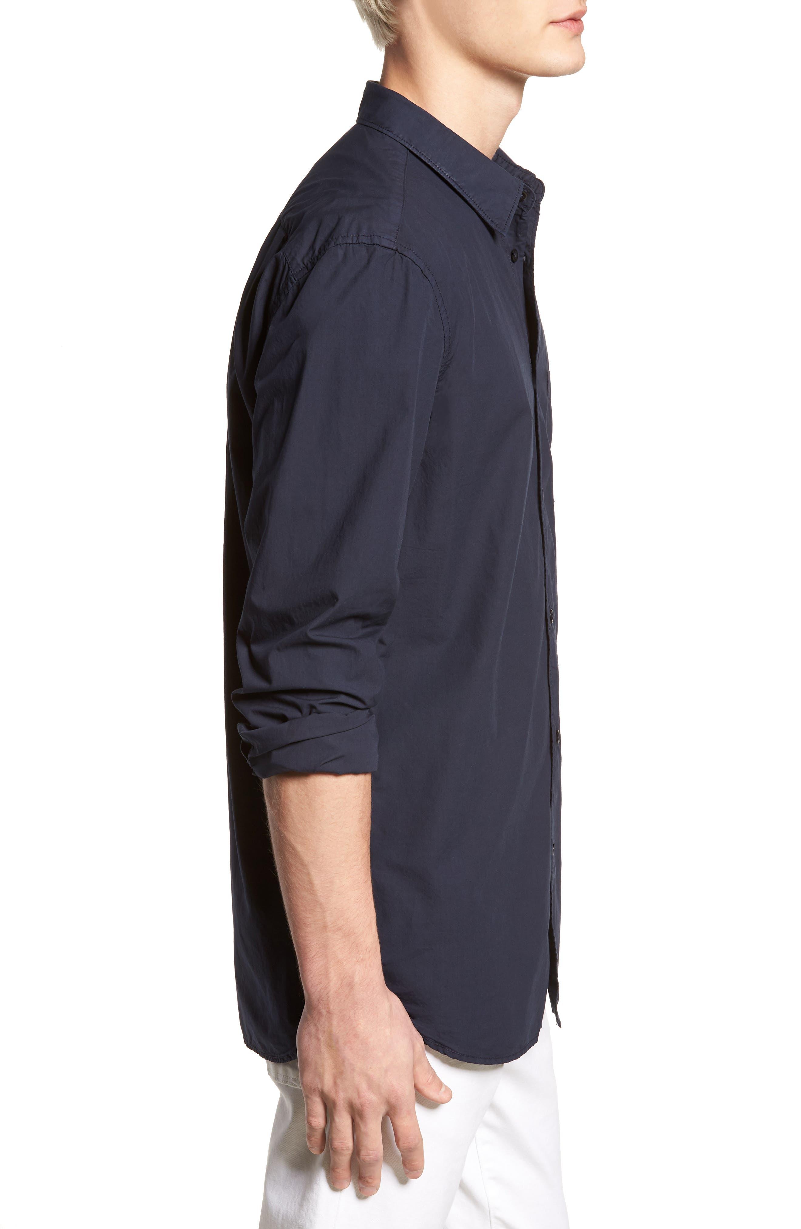 Regular Fit Poplin Sport Shirt,                             Alternate thumbnail 9, color,