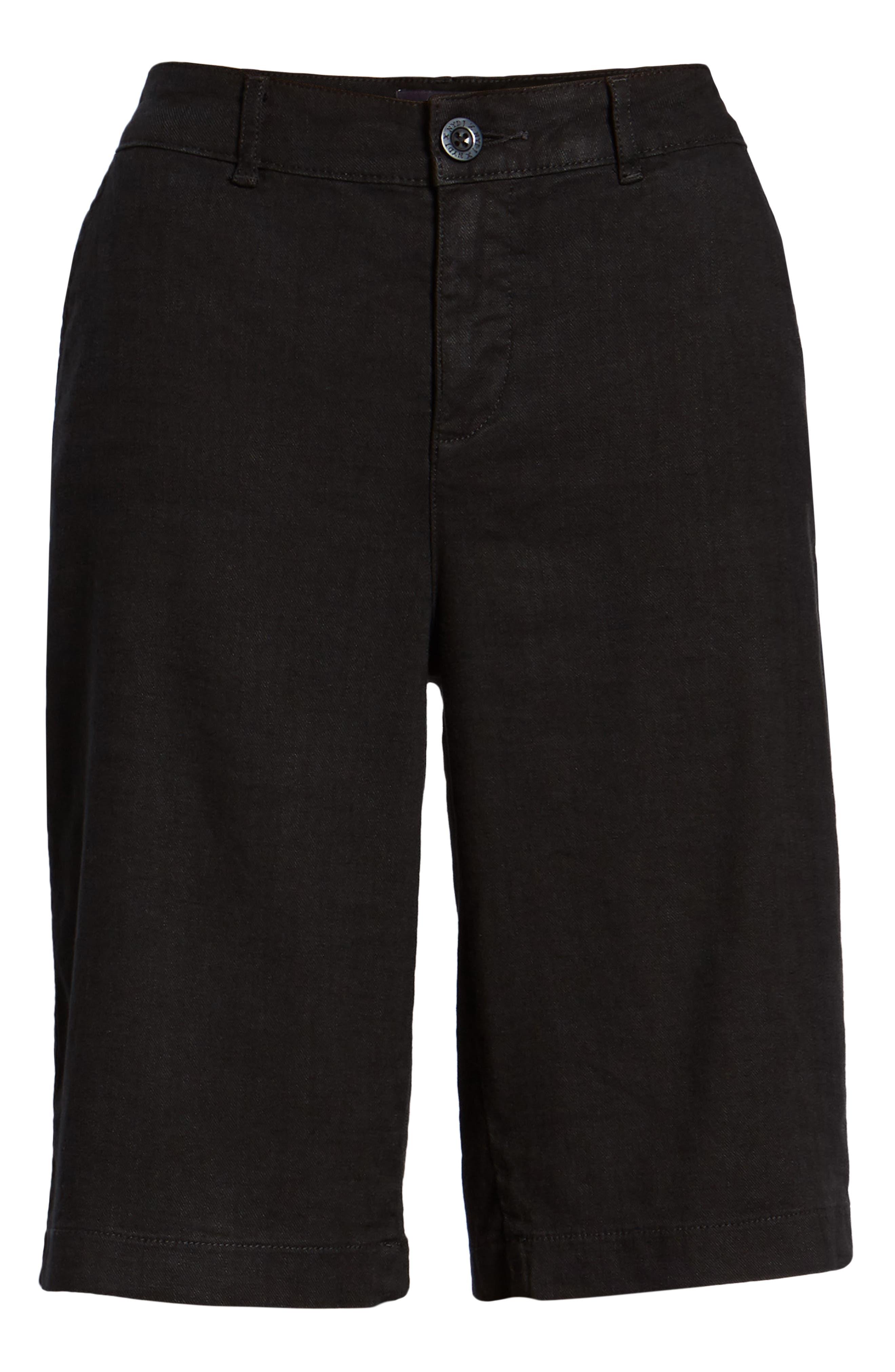 Stretch Linen Blend Bermuda Shorts,                             Alternate thumbnail 6, color,                             001