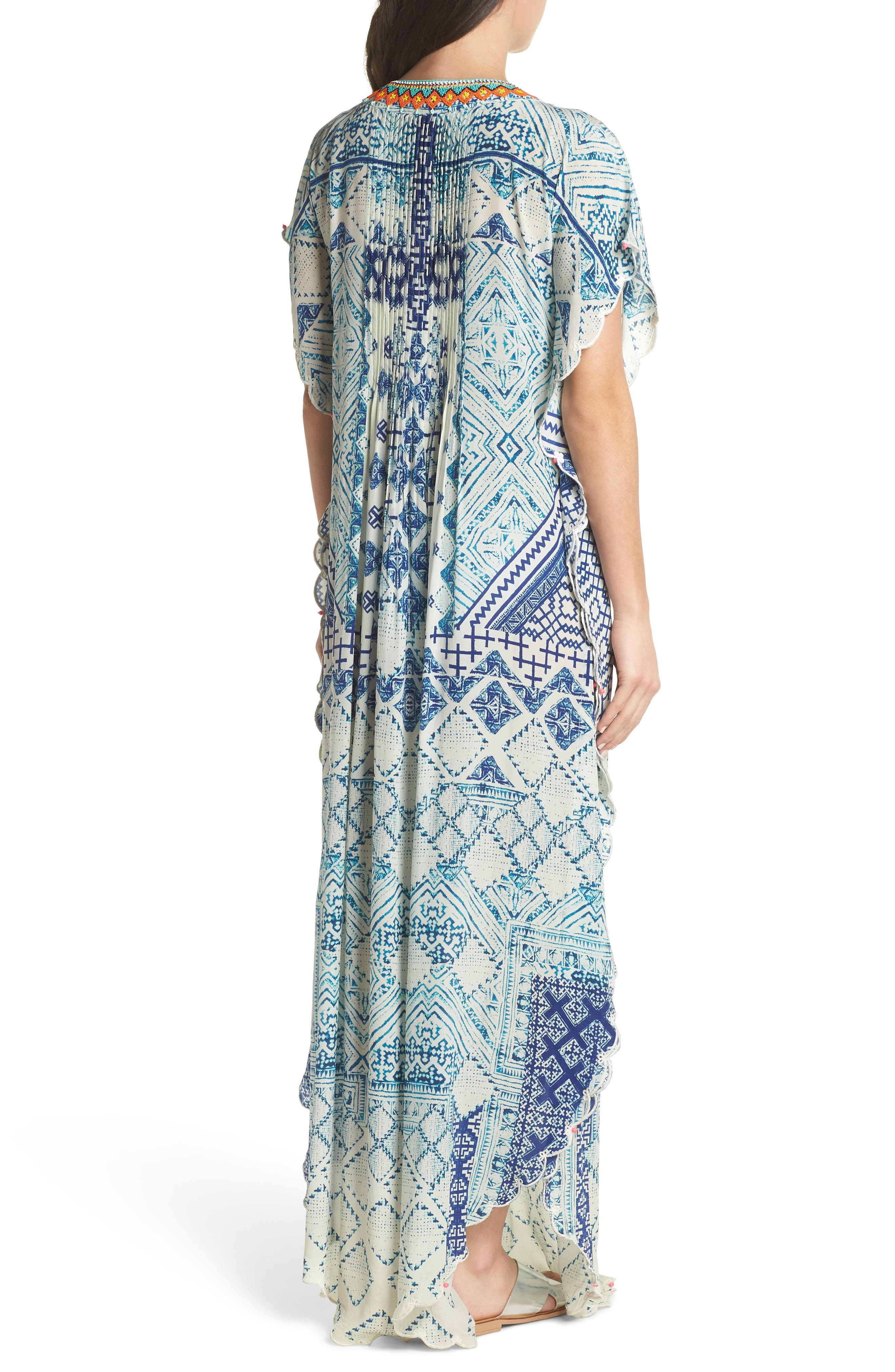 Hemant & Nandita Cover-Up Caftan,                             Alternate thumbnail 2, color,                             405