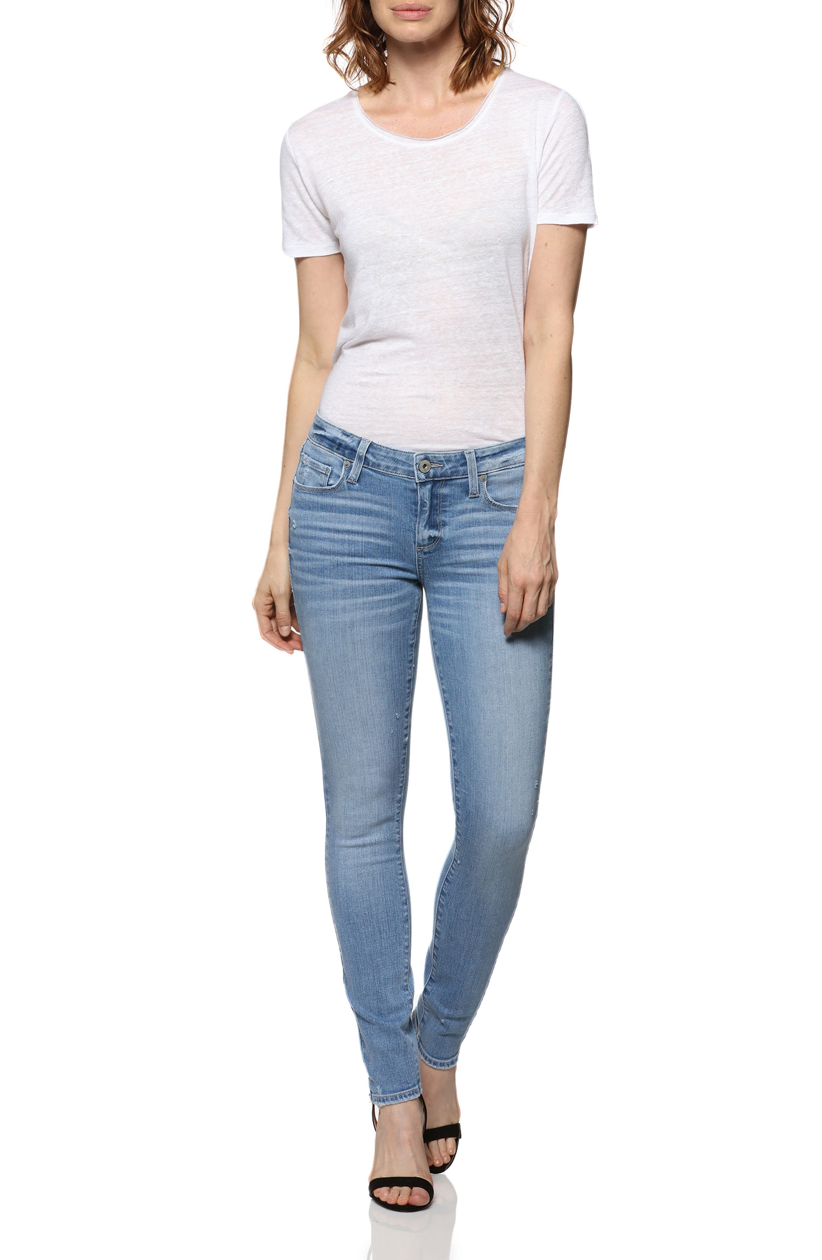 Skyline Ankle Skinny Jeans,                             Alternate thumbnail 3, color,                             400