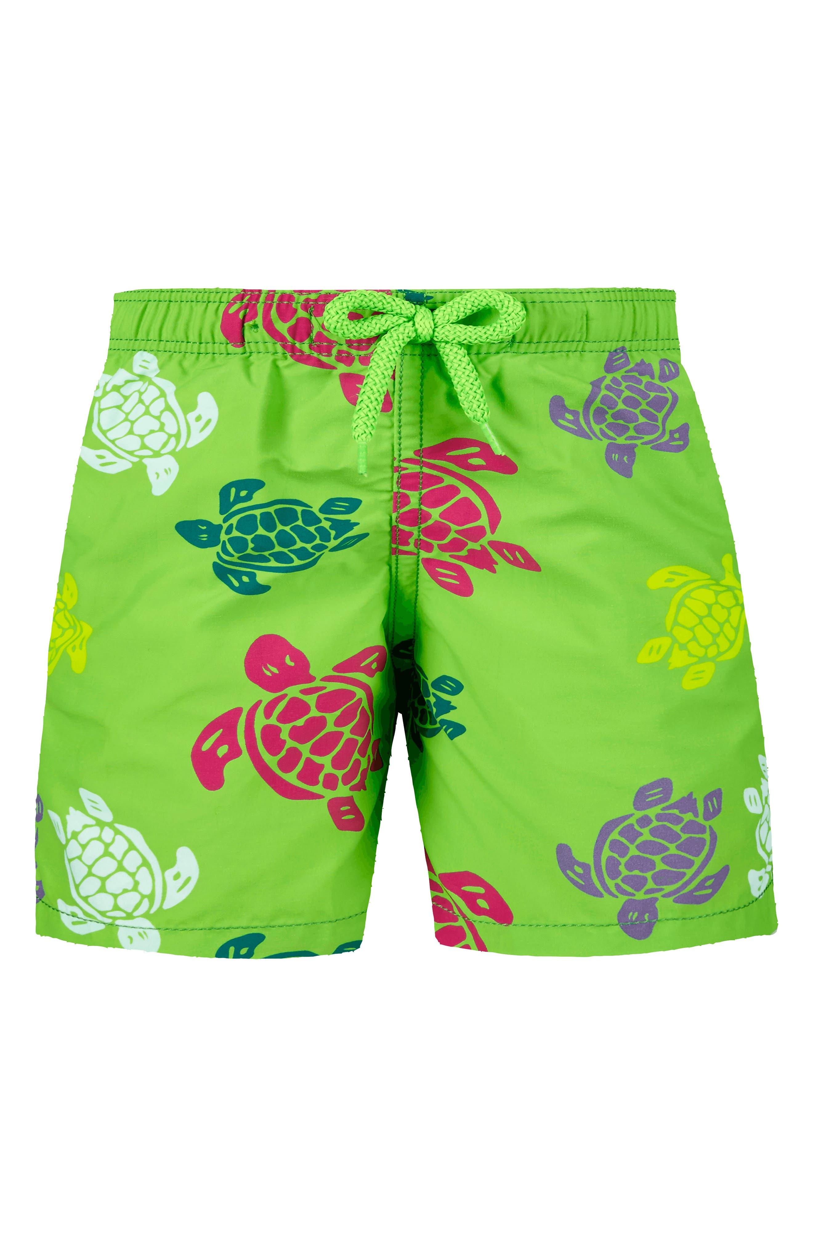 Vilbrequin Turtles Swim Trunks, Main, color, 461VERT PELOUSE
