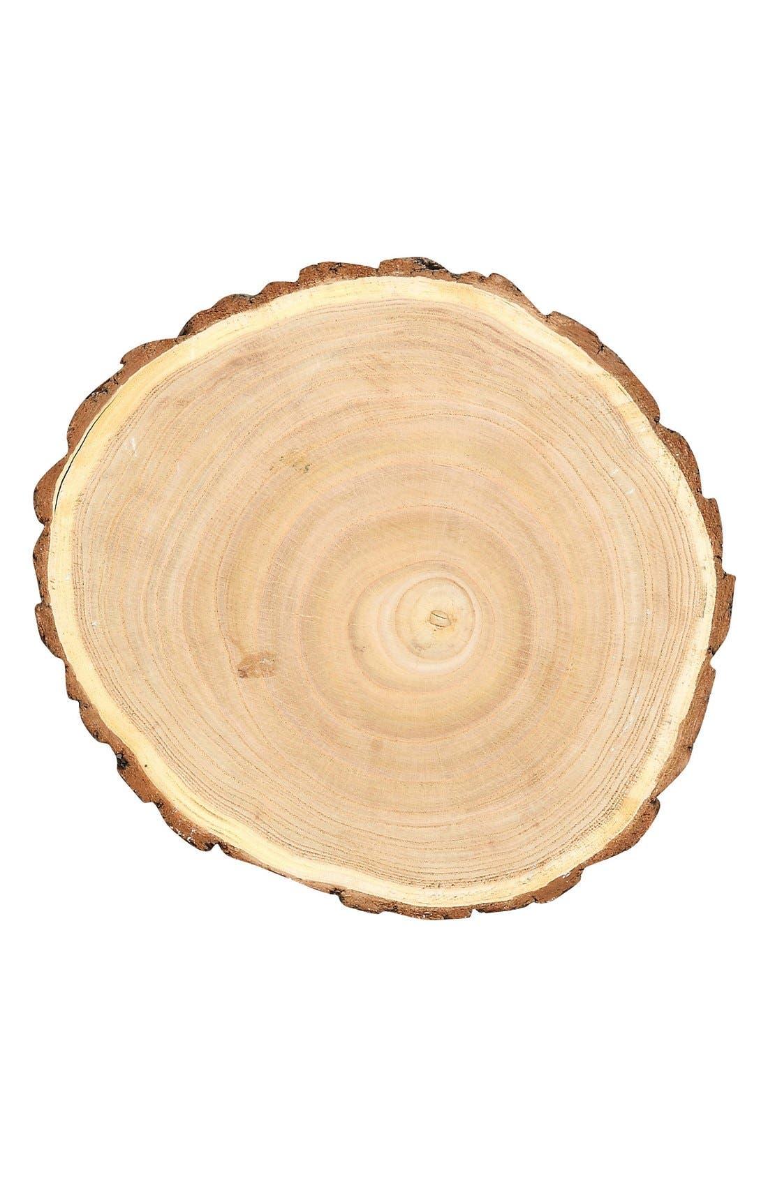 Round Wood Slice,                             Alternate thumbnail 2, color,                             200