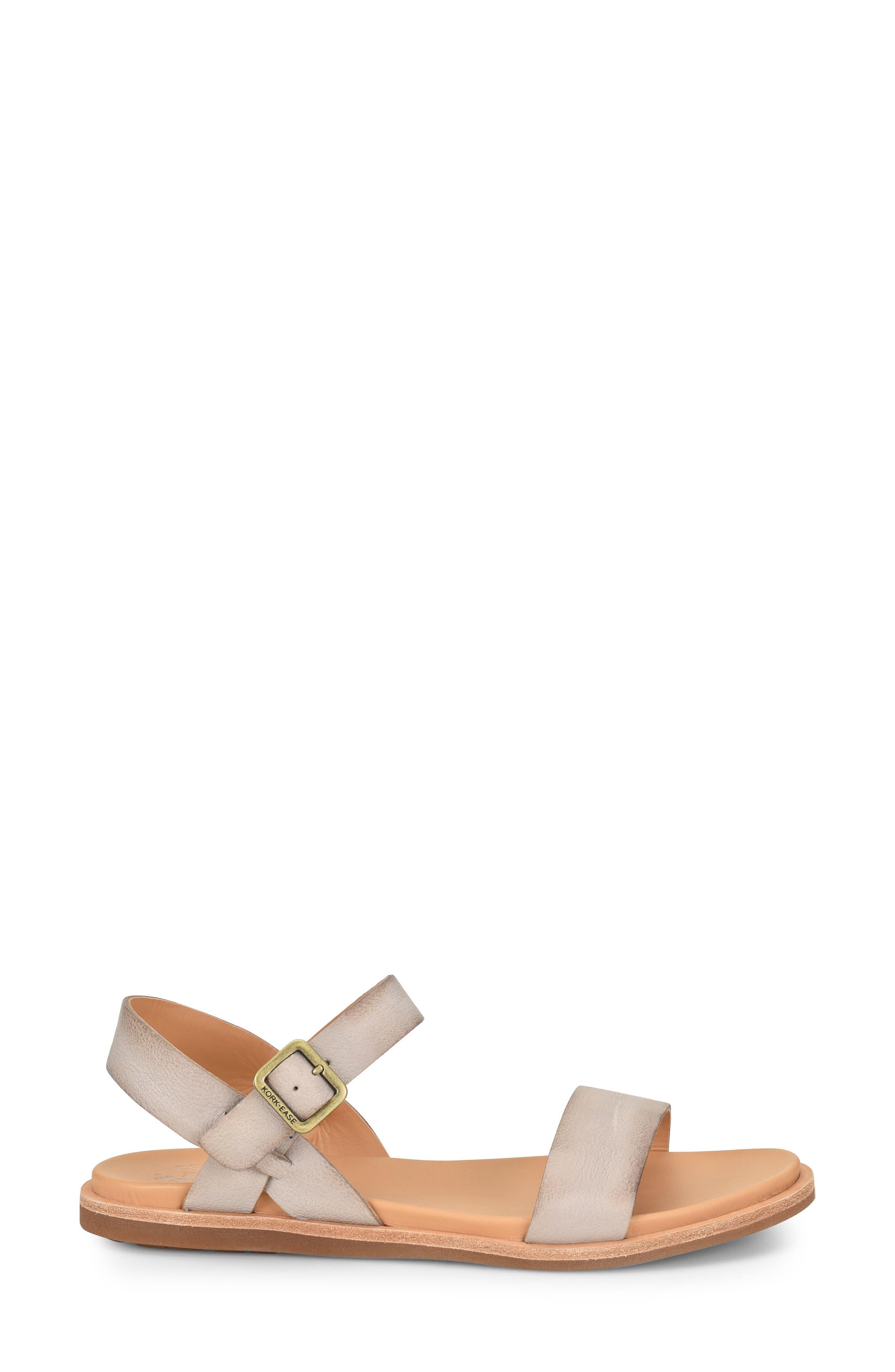 KORK-EASE<SUP>®</SUP>,                             Yucca Sandal,                             Alternate thumbnail 3, color,                             GREY LEATHER