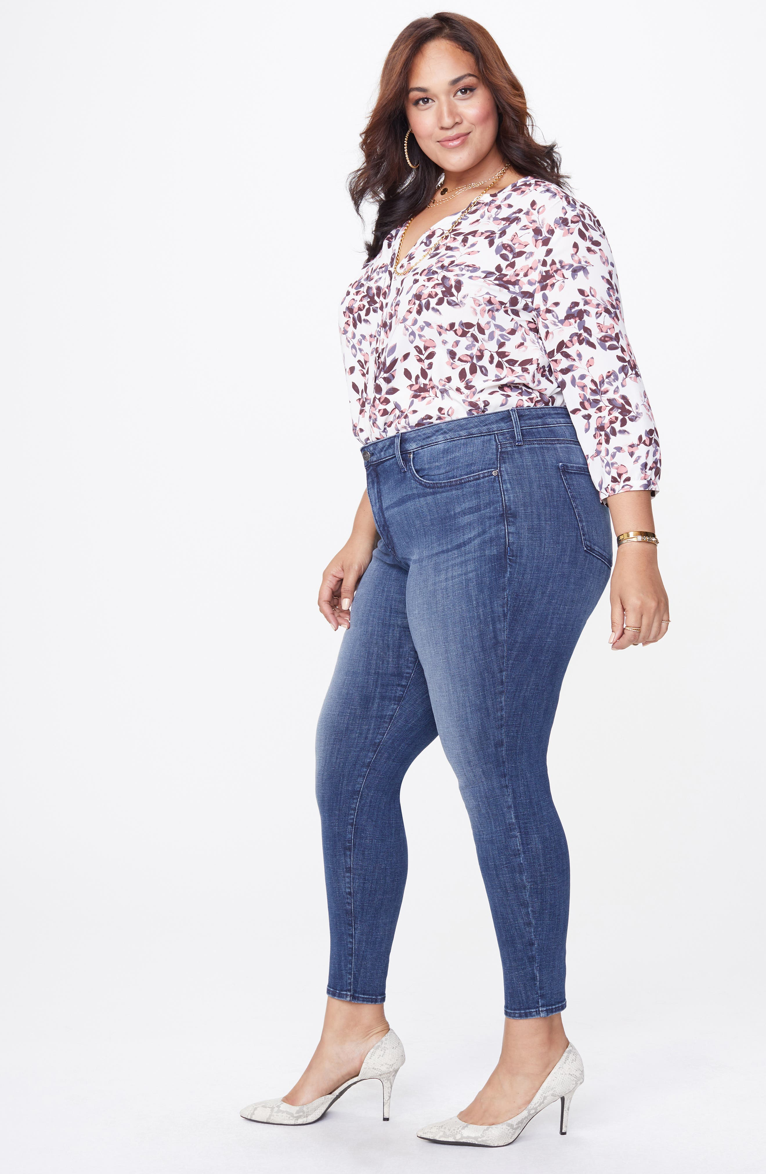 Ami Skinny Jeans,                             Alternate thumbnail 6, color,                             LUPINE
