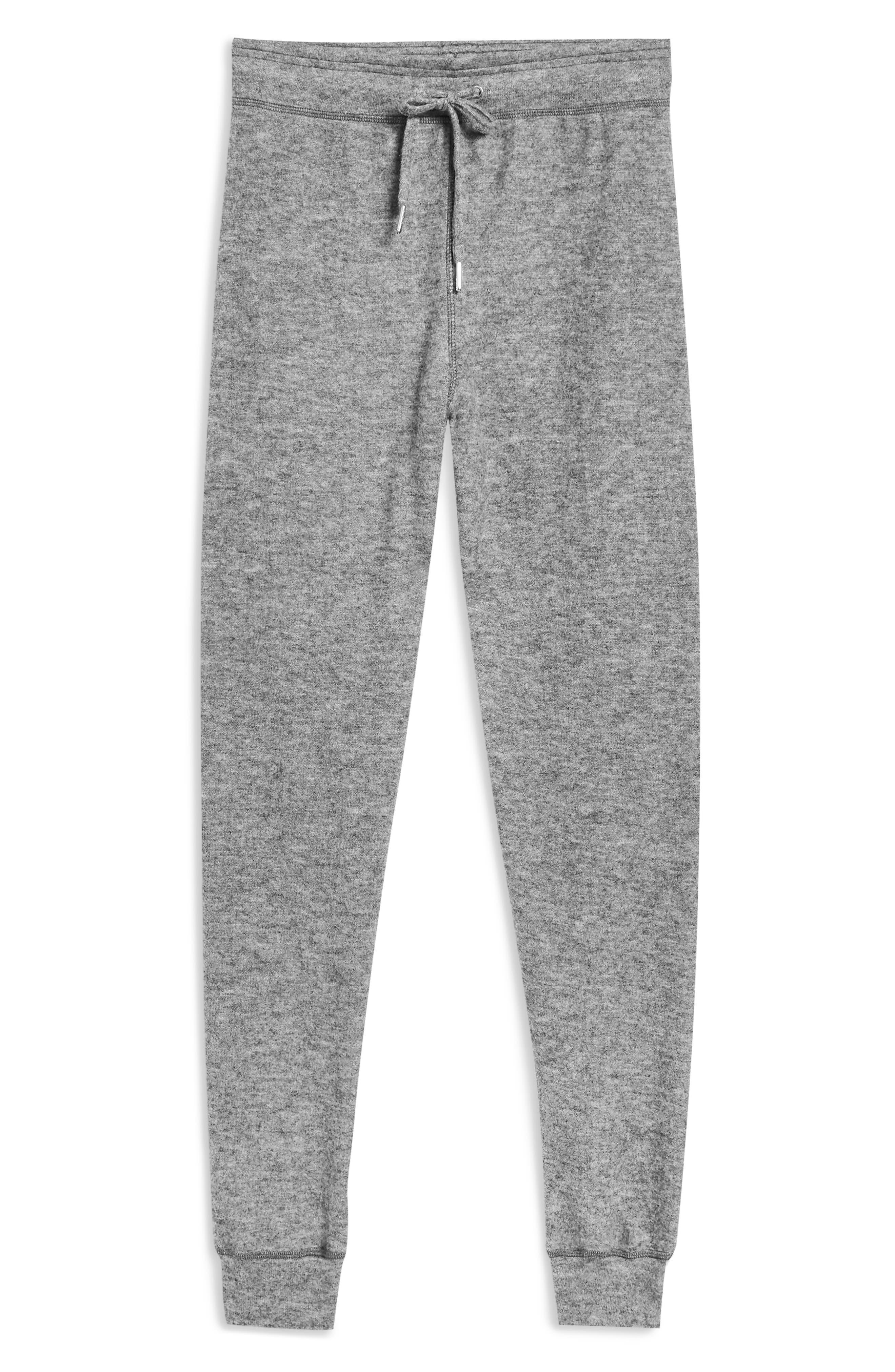 Brushed Super Skinny Jogger Pants,                             Alternate thumbnail 4, color,                             GREY MARL