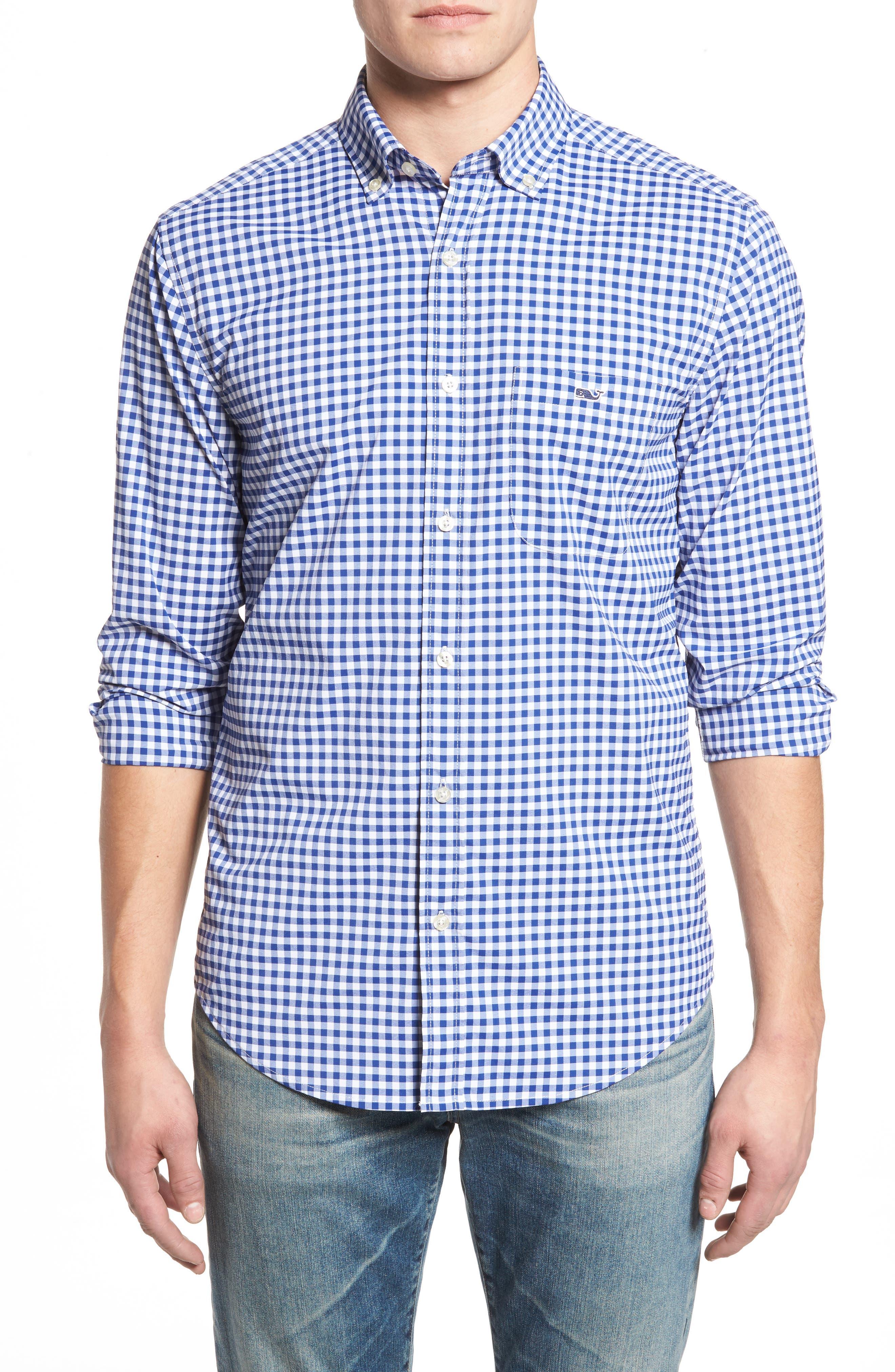 Ferndale Tucker Classic Fit Gingham Sport Shirt,                         Main,                         color, 461