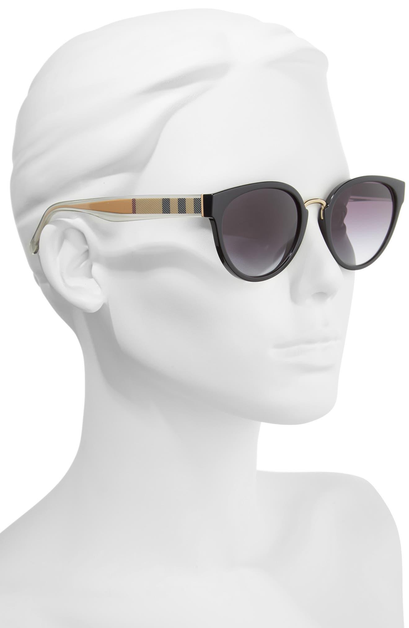 53mm Gradient Cat Eye Sunglasses,                             Alternate thumbnail 5, color,