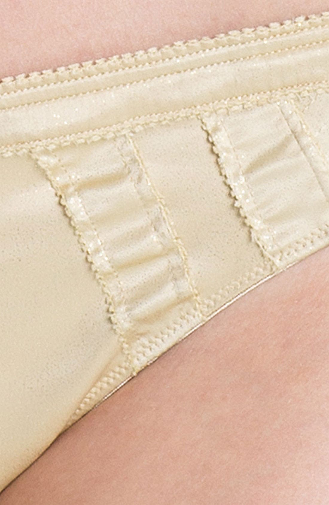 'Satin Structure' Thong,                             Alternate thumbnail 6, color,