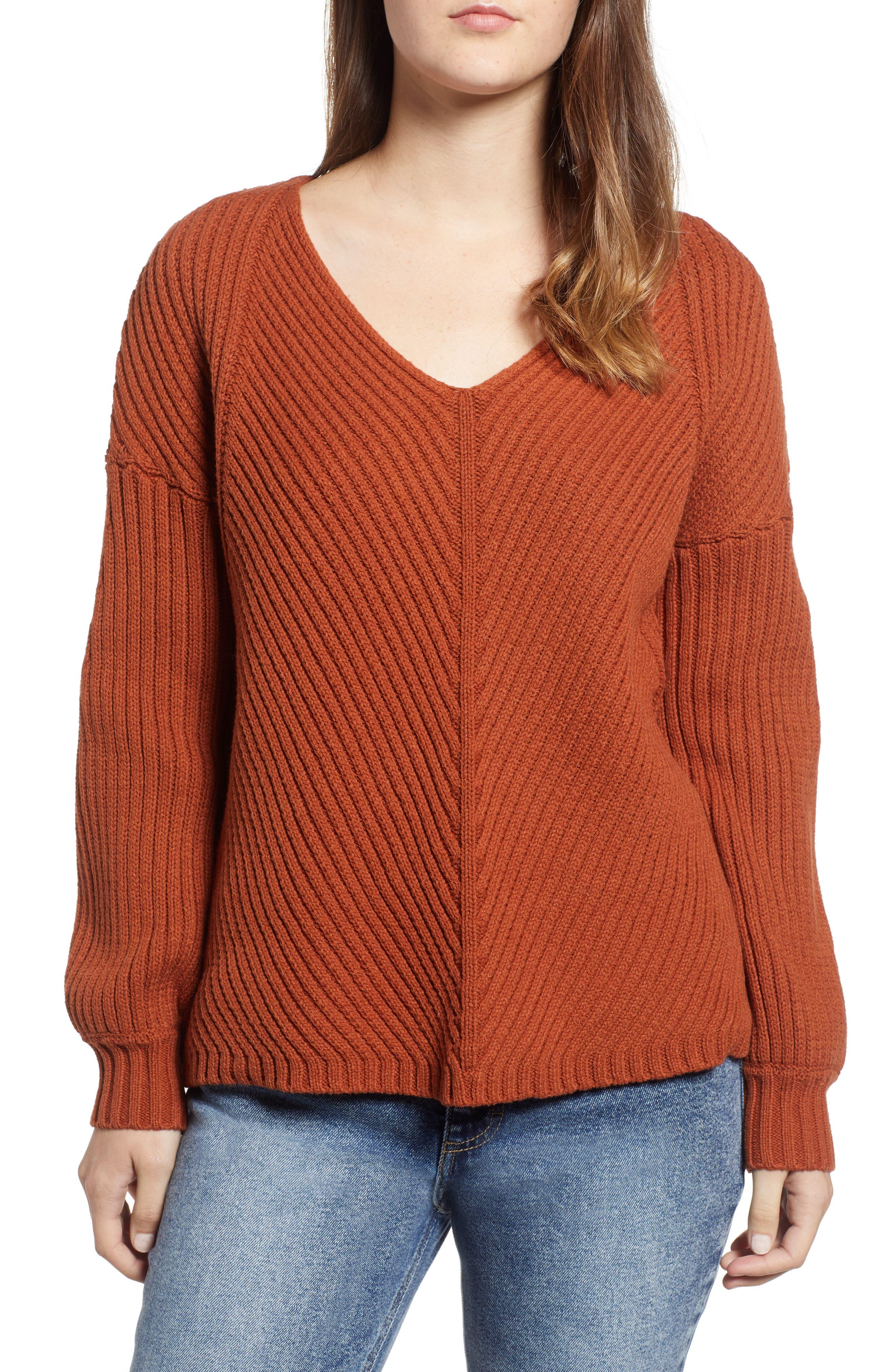 Eleanor Rib Knit Sweater,                         Main,                         color, 200