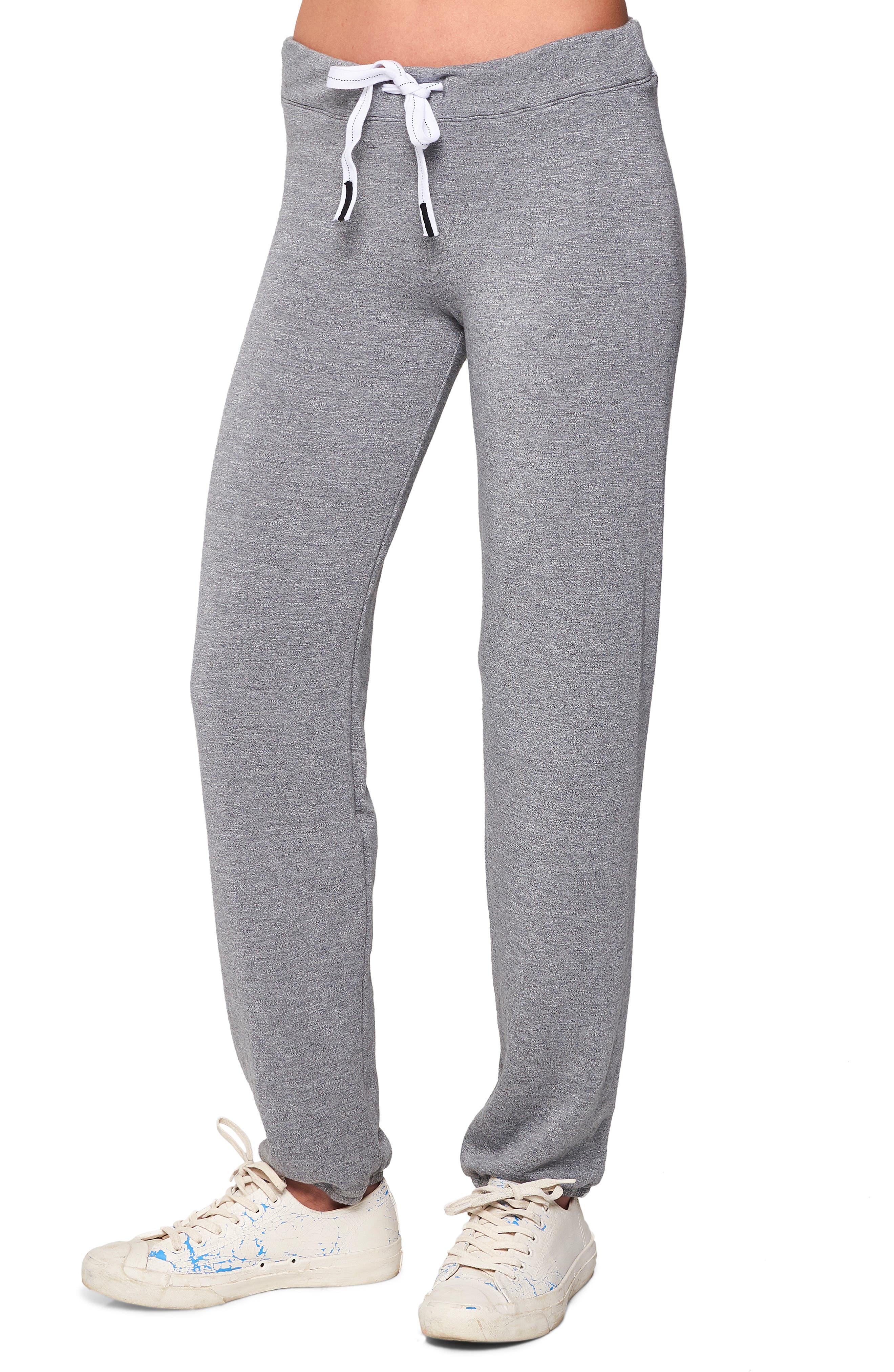 Fleece Sweatpants,                         Main,                         color, HEATHER GREY