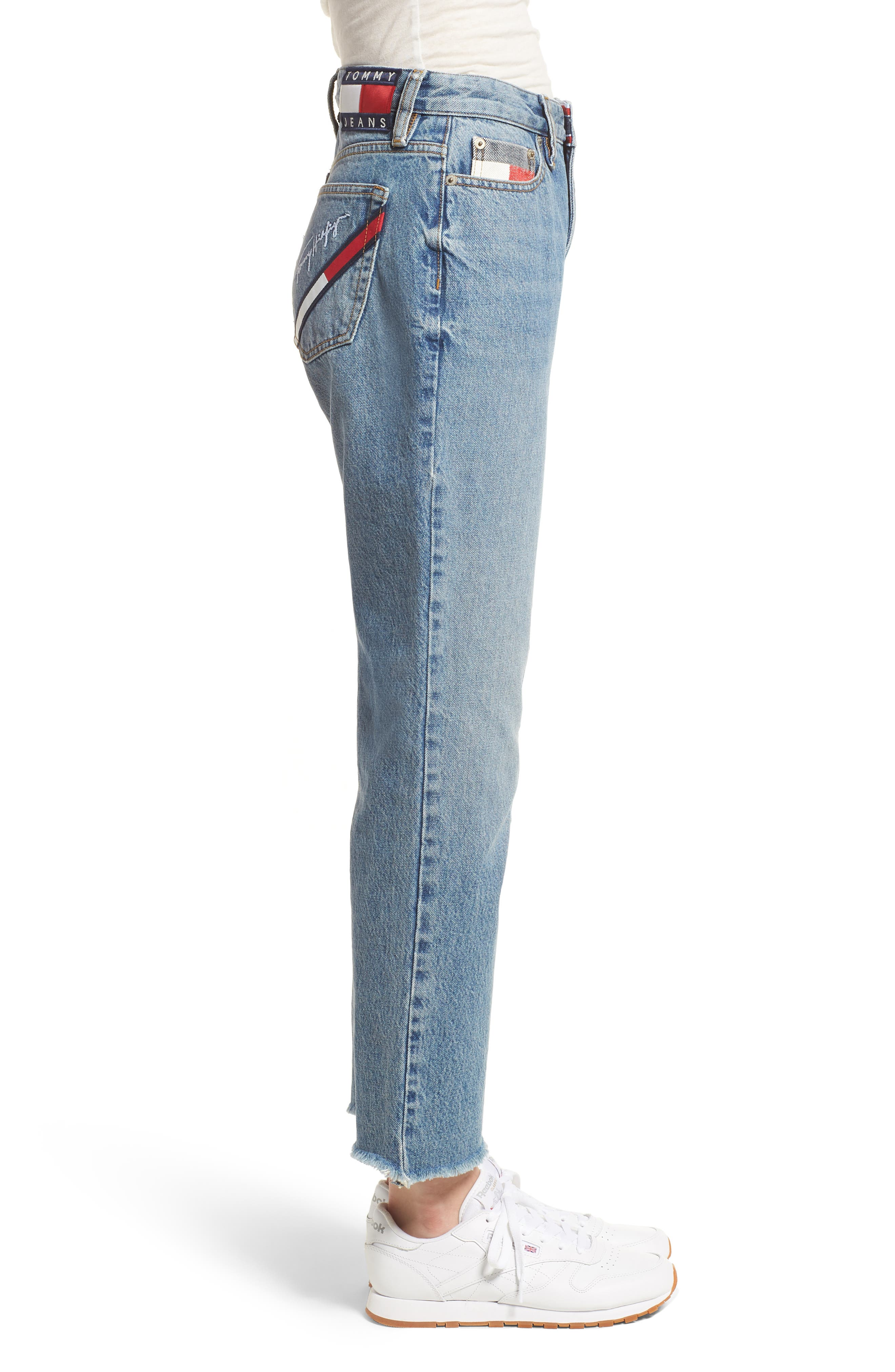 TOMMY JEANS,                             TJW 90s Mom Jeans,                             Alternate thumbnail 3, color,                             401