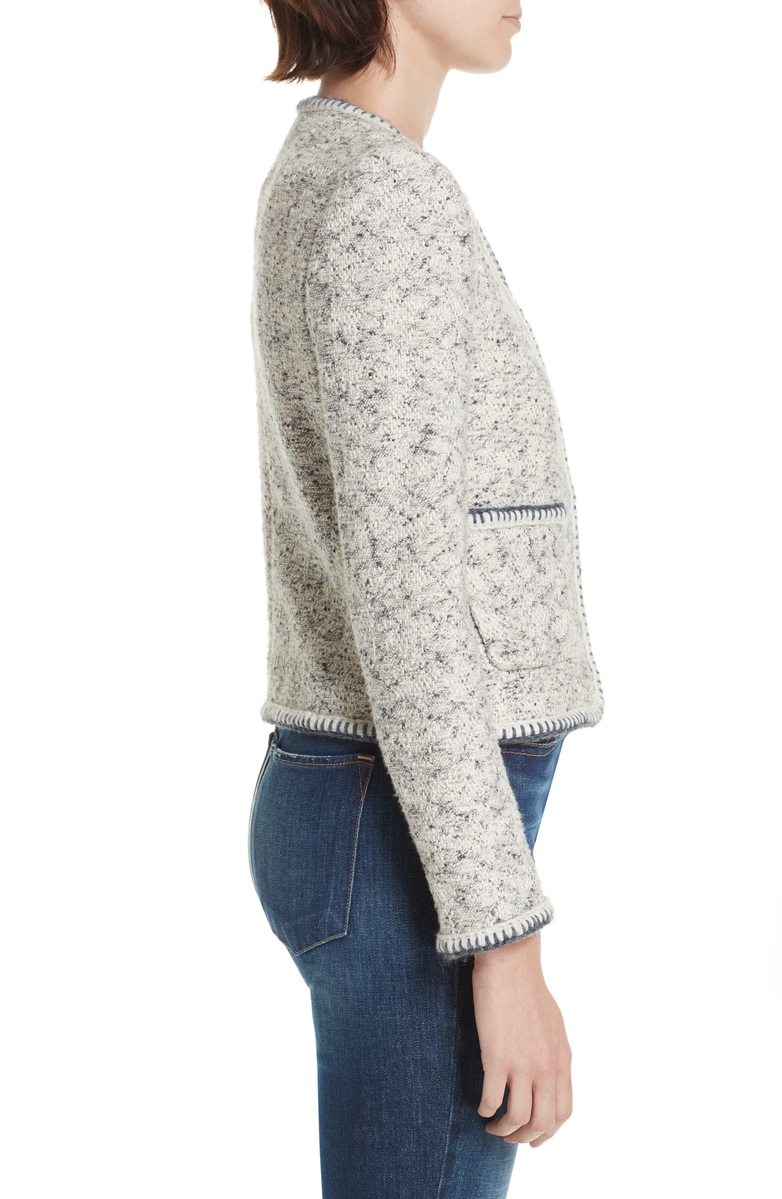 Speckled Tweed Jacket,                             Alternate thumbnail 3, color,                             054