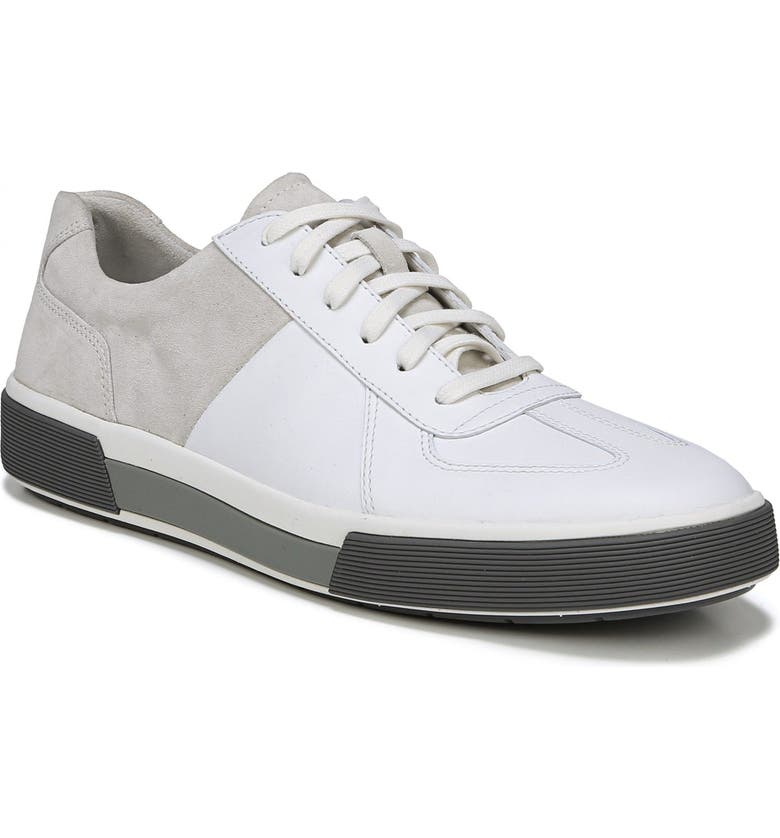 Vince Men's Rogue Suede & Leather Low-top Sneakers In White/ Horchata